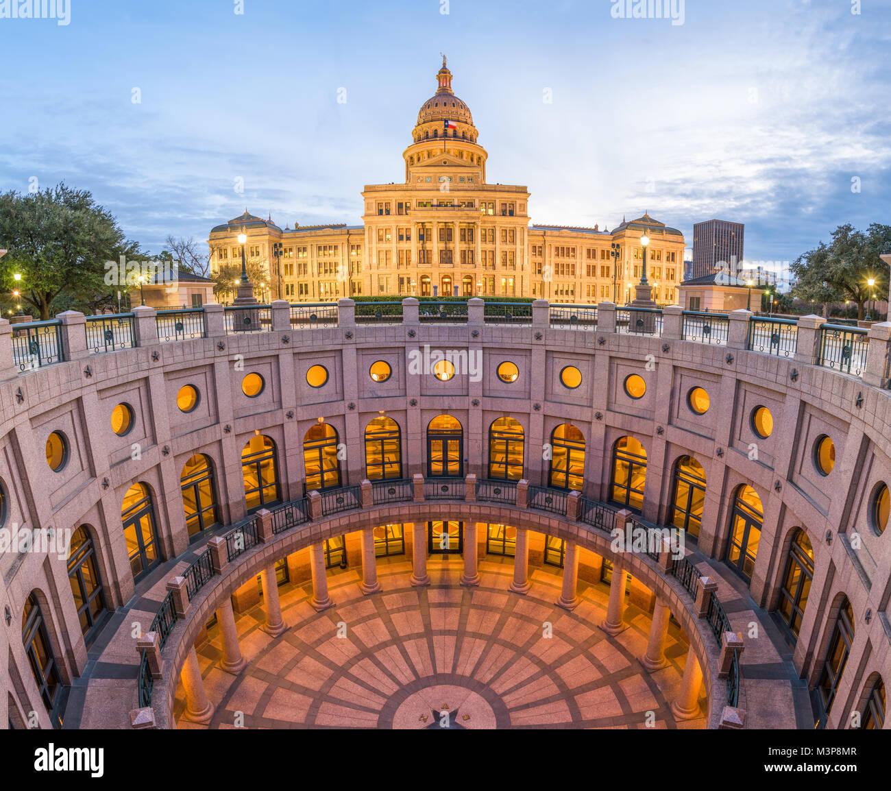 Austin, Texas, USA an der Texas State Capitol. Stockbild
