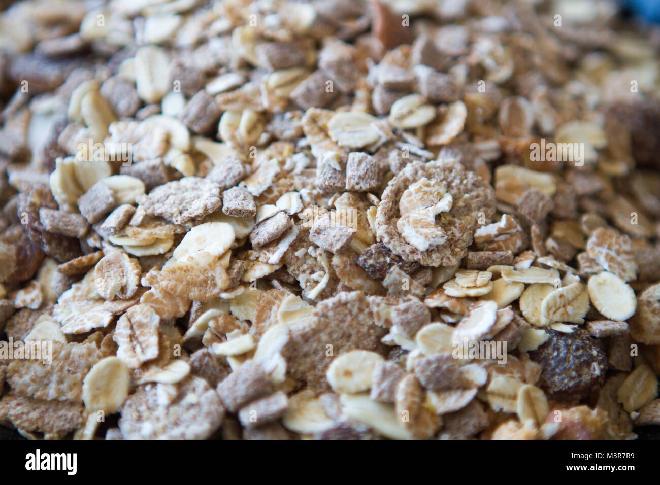 Müsli, Hafer Floke, Fibre gesunde breaffast Stockfoto