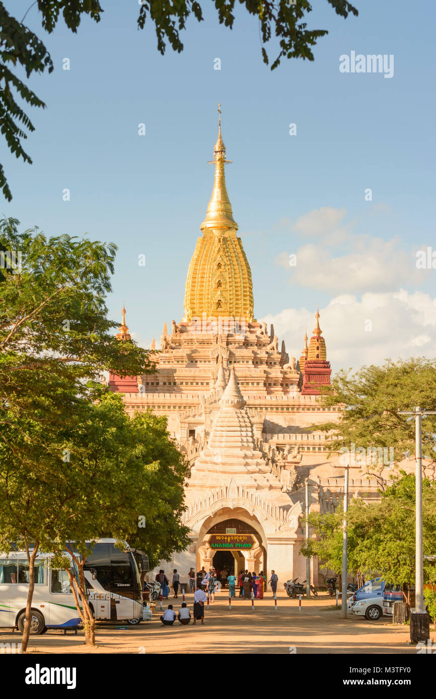 Bagan: Ananda Tempel, Region, Mandalay, Myanmar (Birma) Stockbild