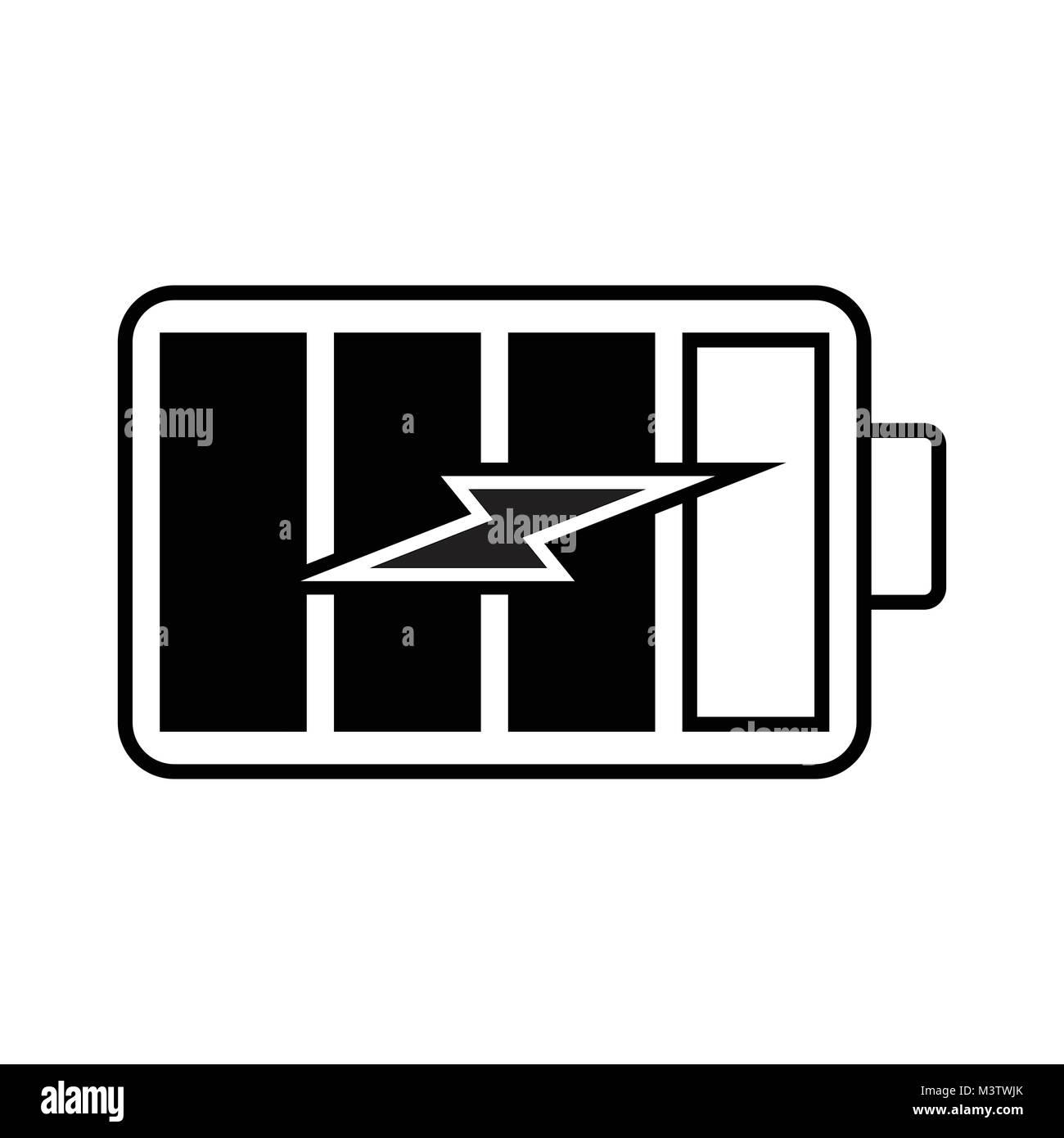 Batterie aufladen Symbol Vektor Abbildung - Bild: 174494619 - Alamy