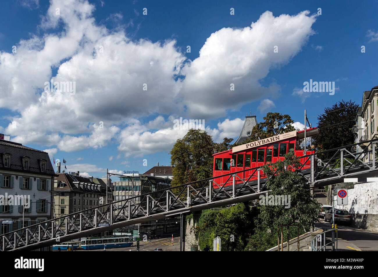 Polybahn am Central, Zürich, Schweiz Stockbild