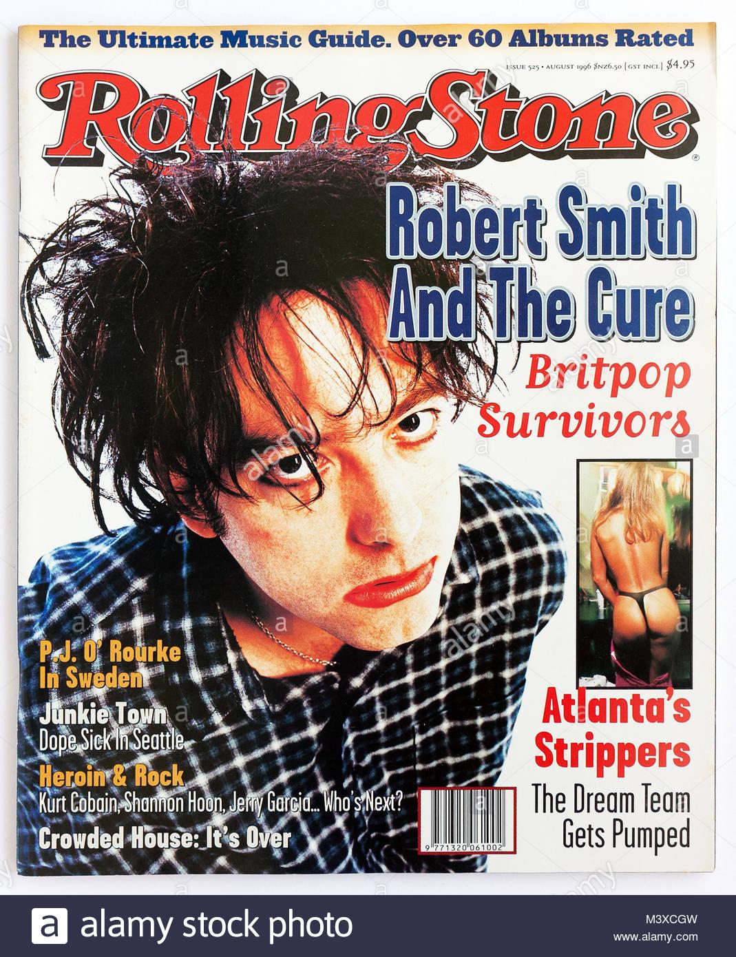 Das Cover des Rolling Stone Magazine, Ausgabe 525, Robert Smith von The Cure Stockbild