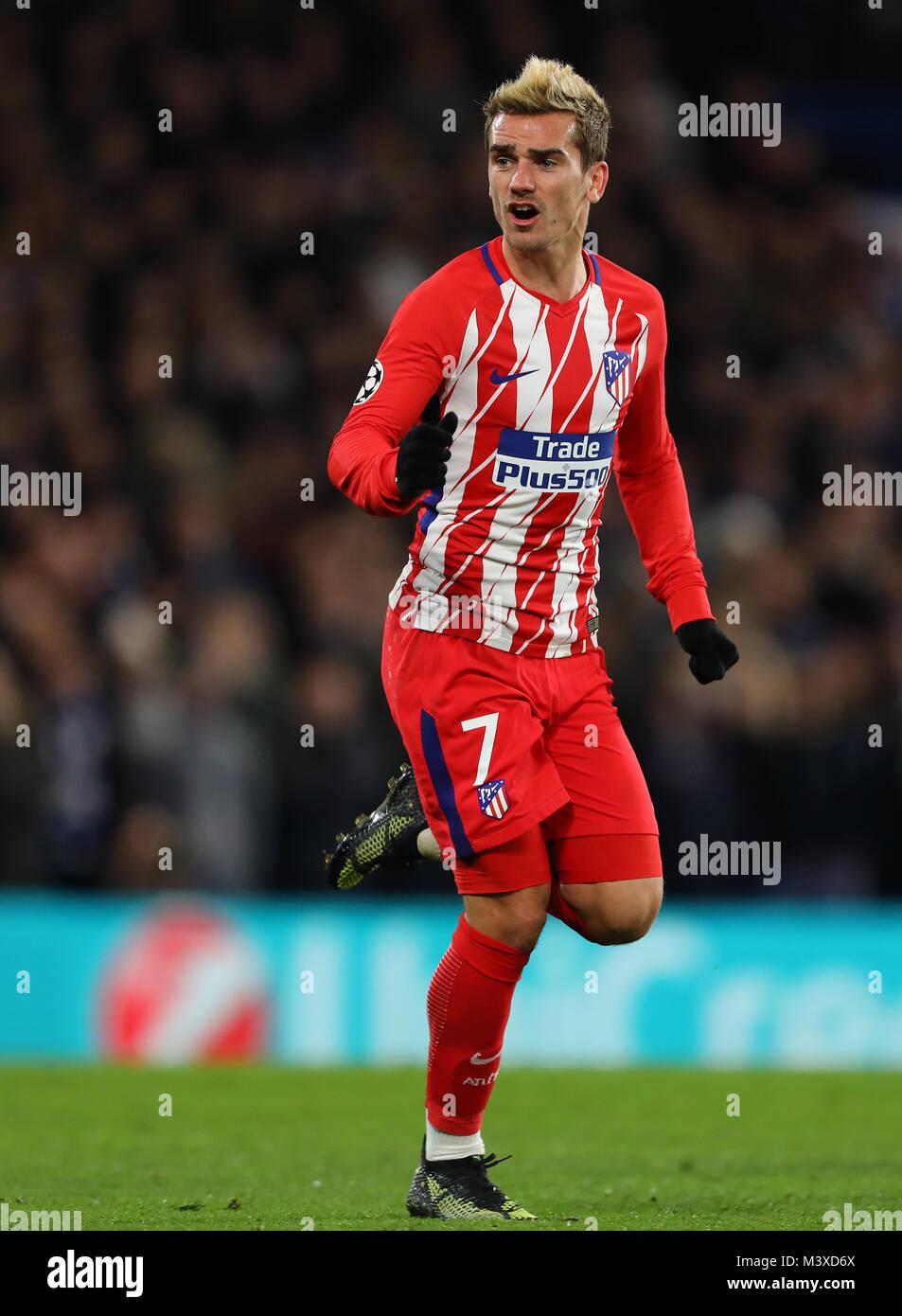 Antoine Griezmann von Atletico Madrid - Chelsea v Atletico Madrid, UEFA  Champions League, Stamford Bridge, London, 5. Dezember 2017 Stockfotografie  - Alamy