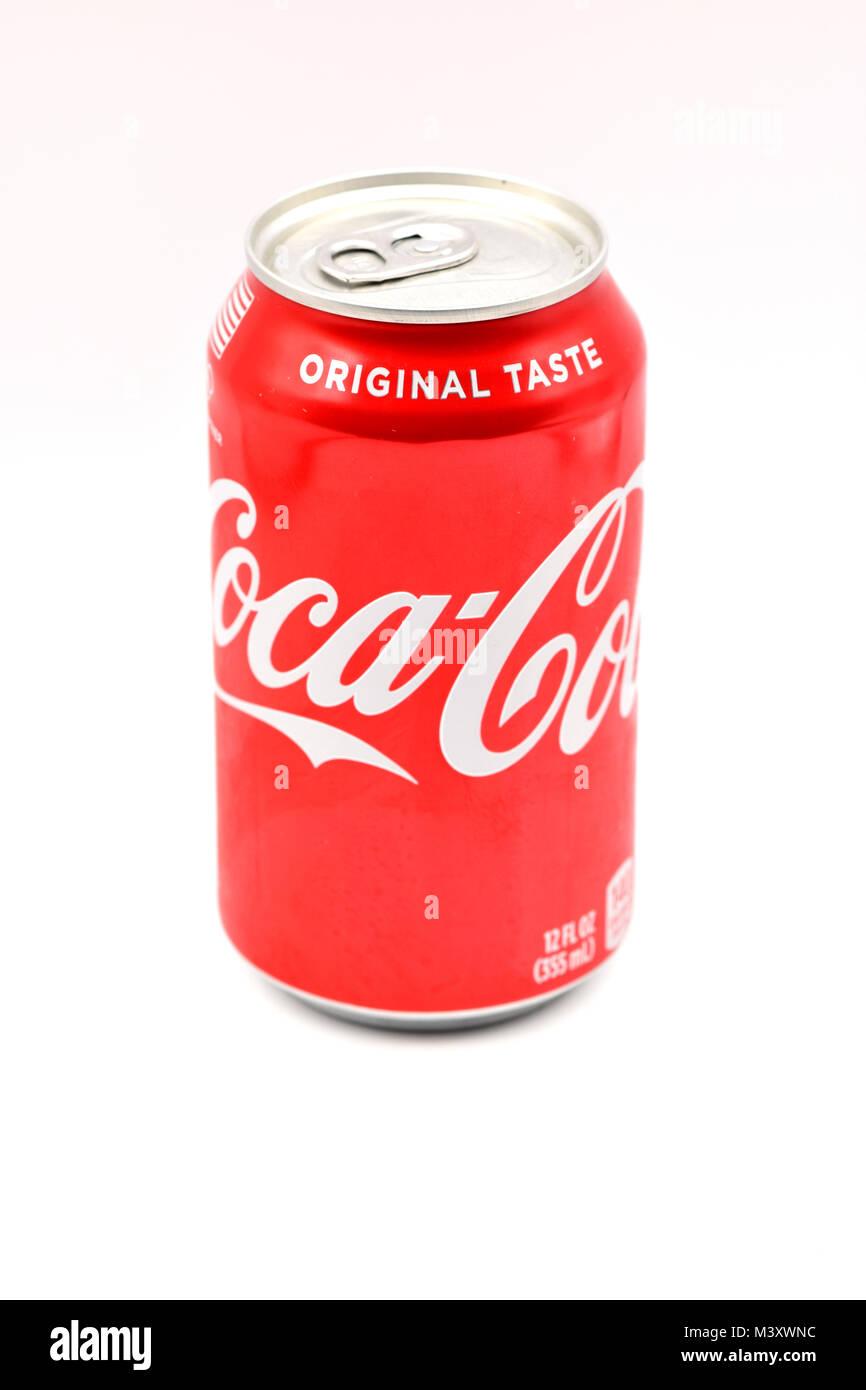 Ridgewood New York Usa Candy Rot Coca Cola Kann Auf Eine Nahtlose