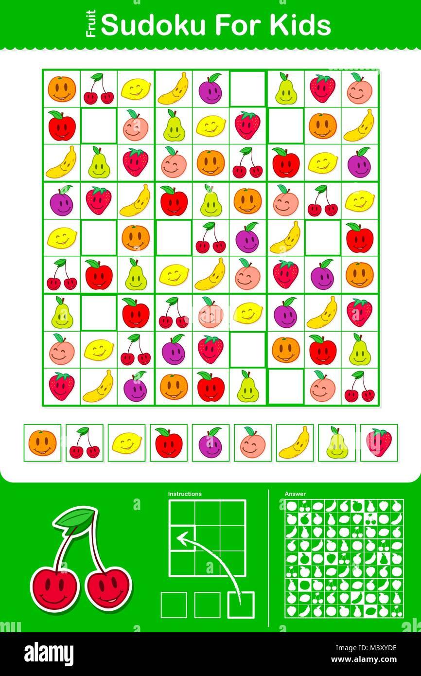 Pädagogische einfach bunte Sudoku Puzzle Raster mit neun ...