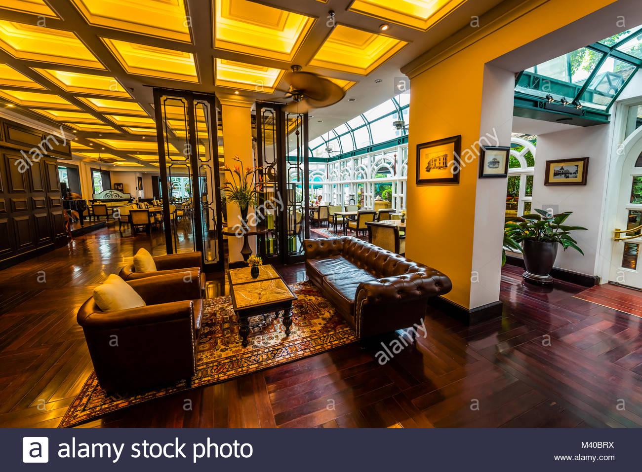 Sofitel Legend Metropole Hanoi ist ein 5-Sterne-Hotel historische Luxushotel, das 1901 im französischen Kolonialstil Stockbild