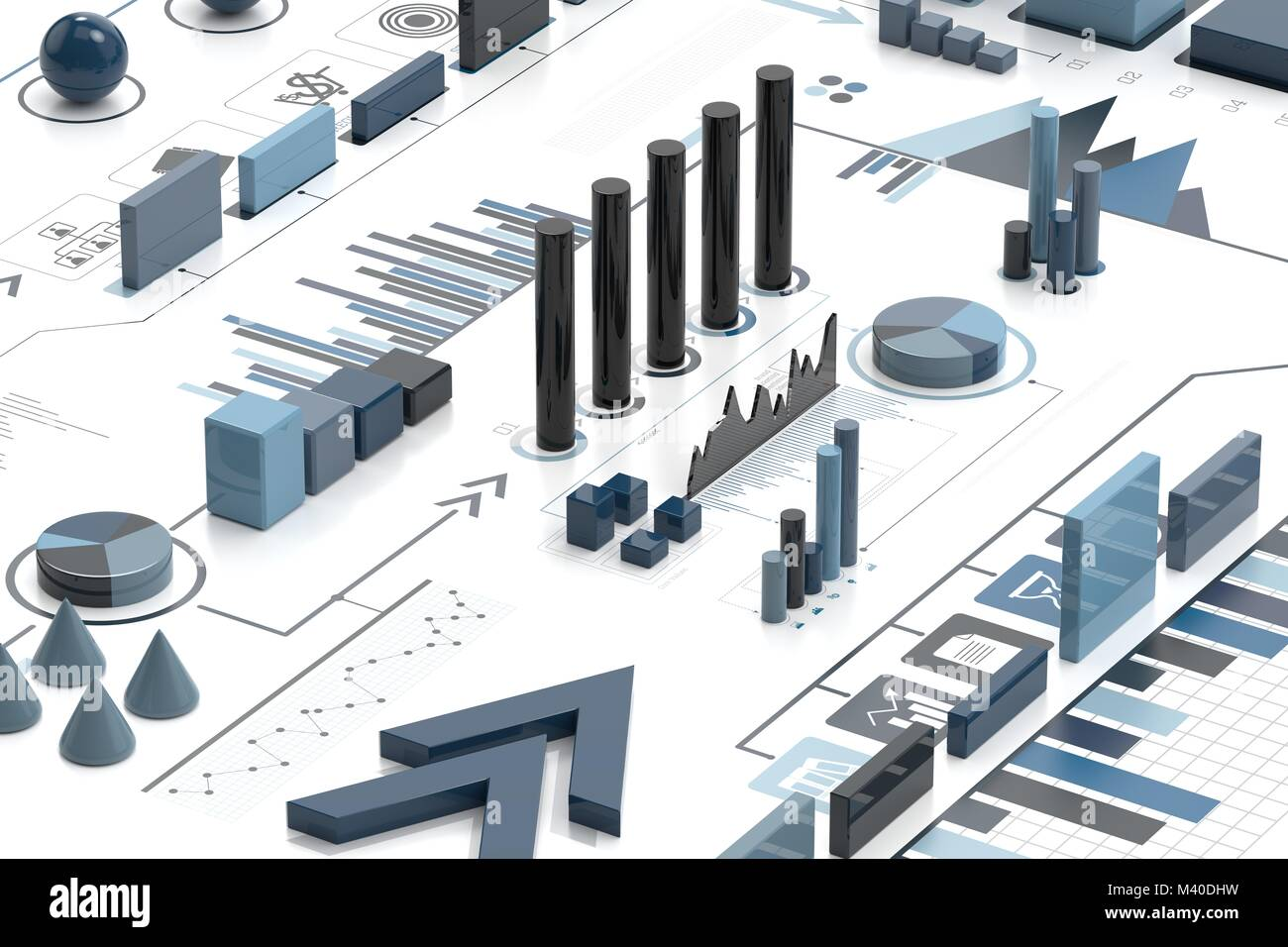 3d-infografik Hintergrund, Geschäftskonzept. 3D-Darstellung Stockfoto