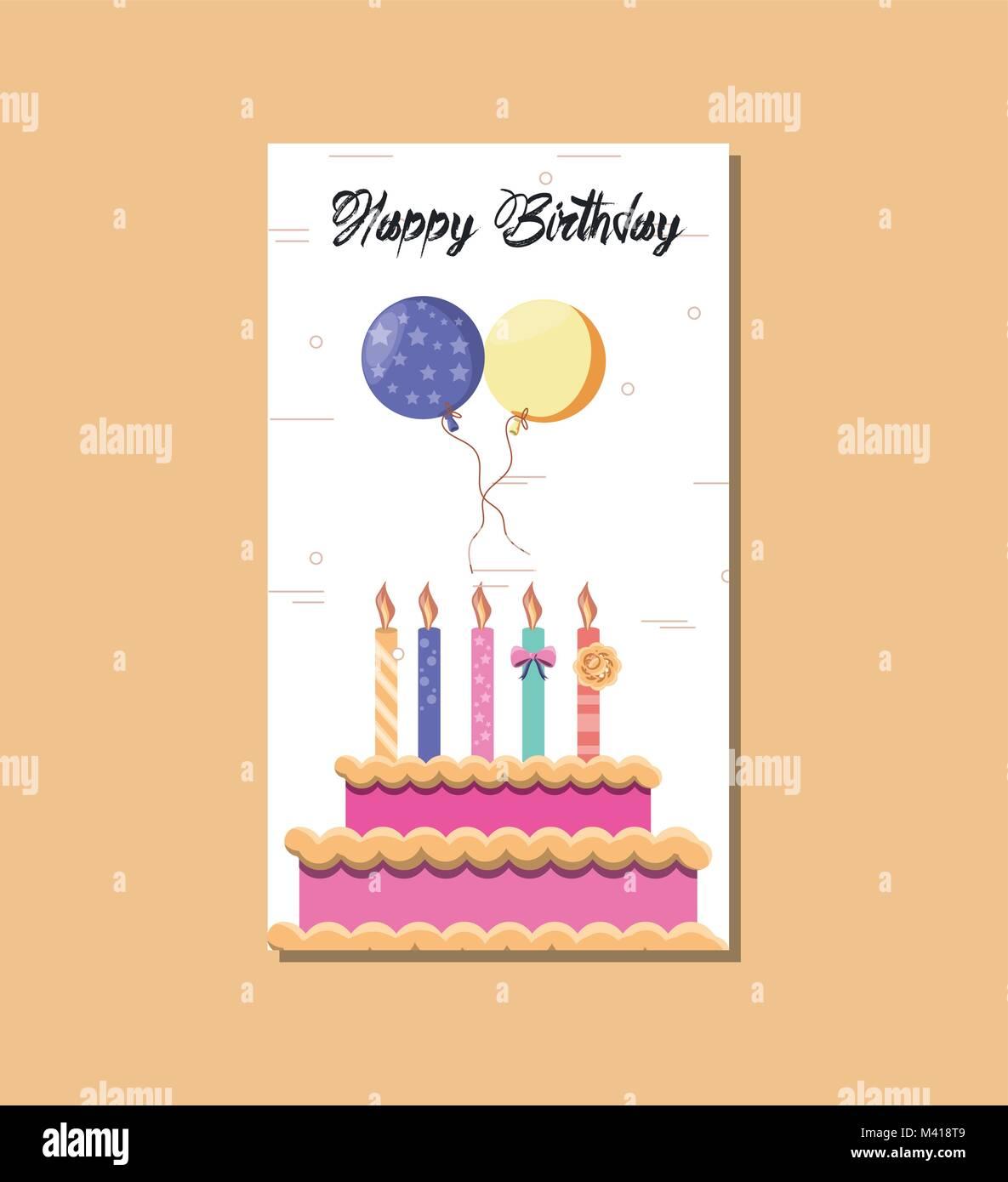 Happy Birthday Card Symbol