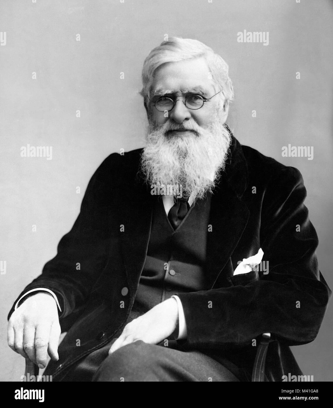 Alfred Wallace. Porträt der englischen Naturforscher, Alfred Russel Wallace (1823-1913) Stockbild