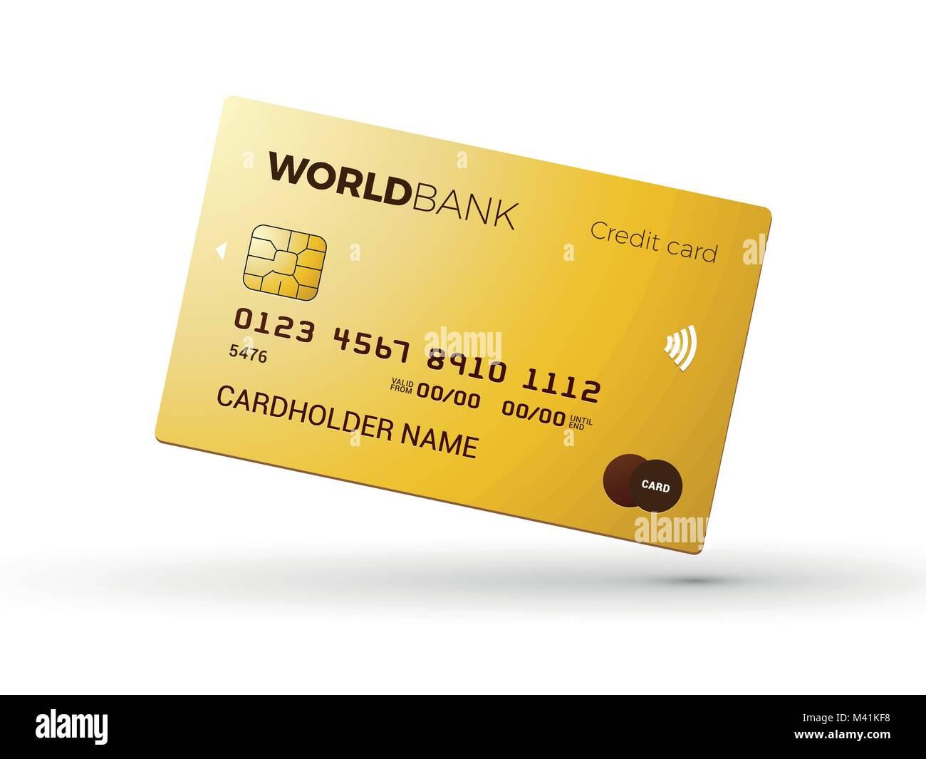 Credit Card Template Design Gold Card Stockfotos & Credit Card ...