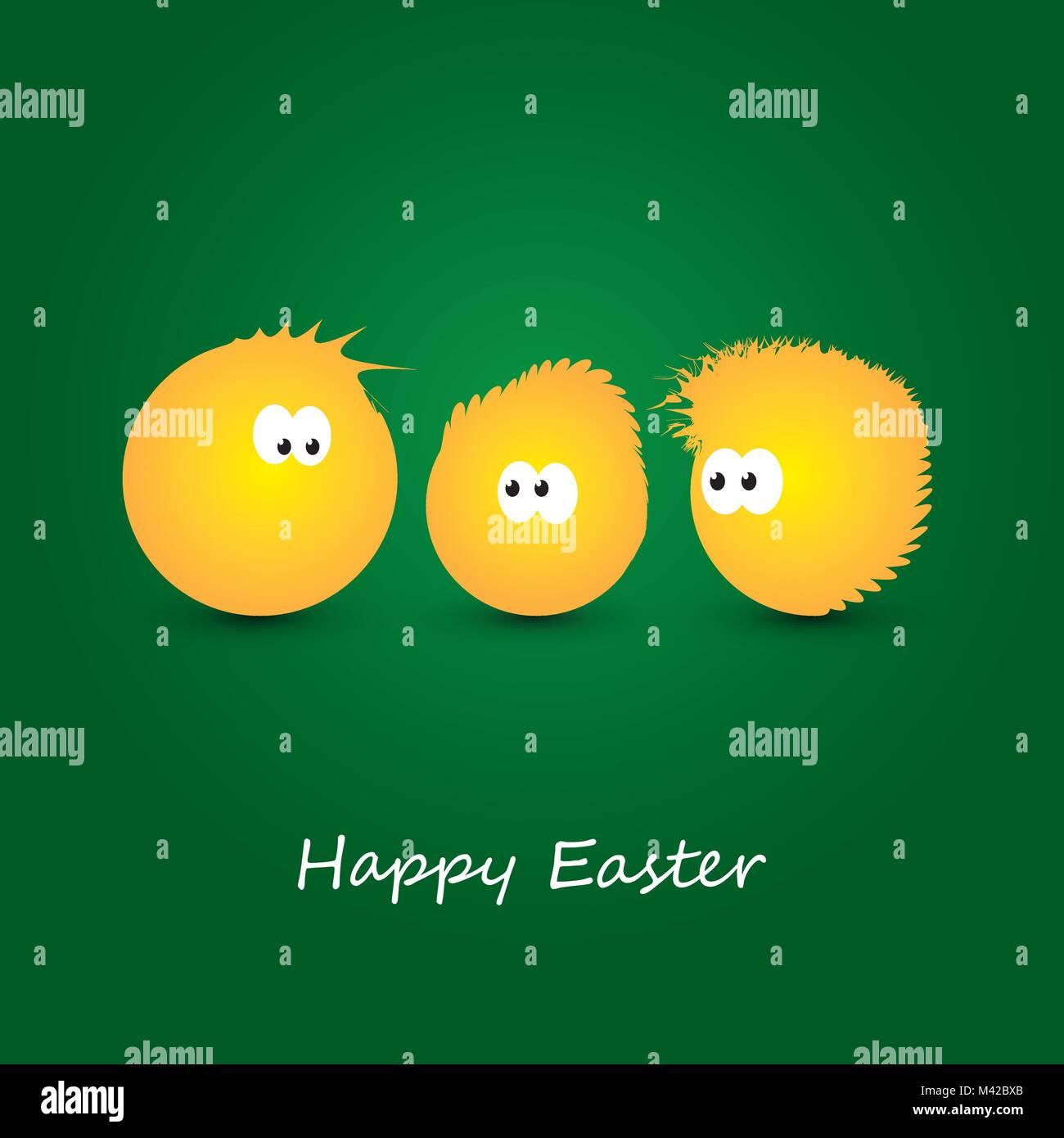 Gelbe Karte Lustig.Lustige Frohe Ostern Karte Mit Gelben Hühner Abstrakte Abbildung