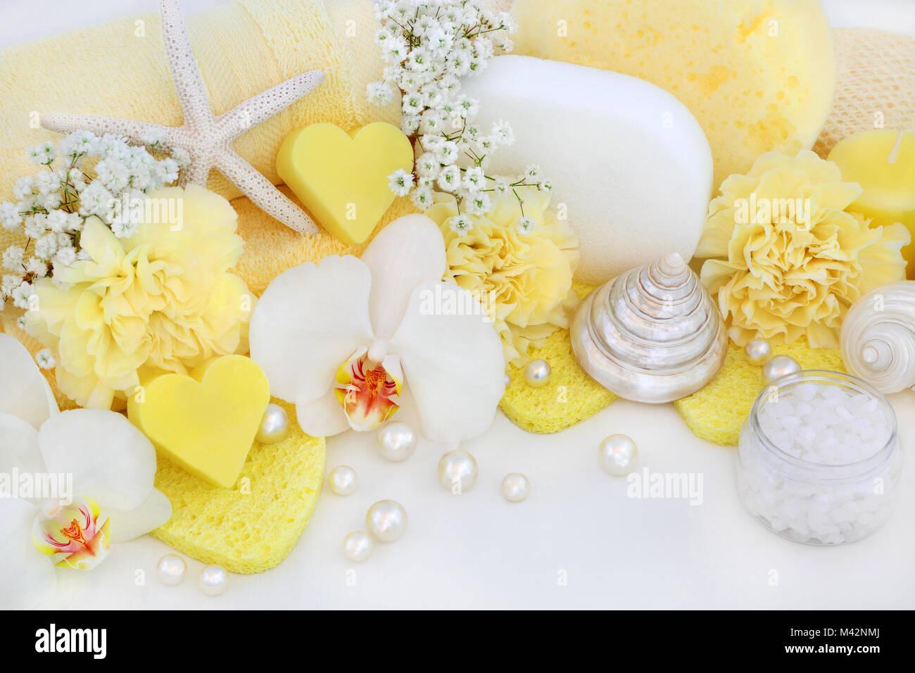 Orchideen Badezimmer | Badezimmer Schonheit Reinigungsprodukte Mit Orchideen Und