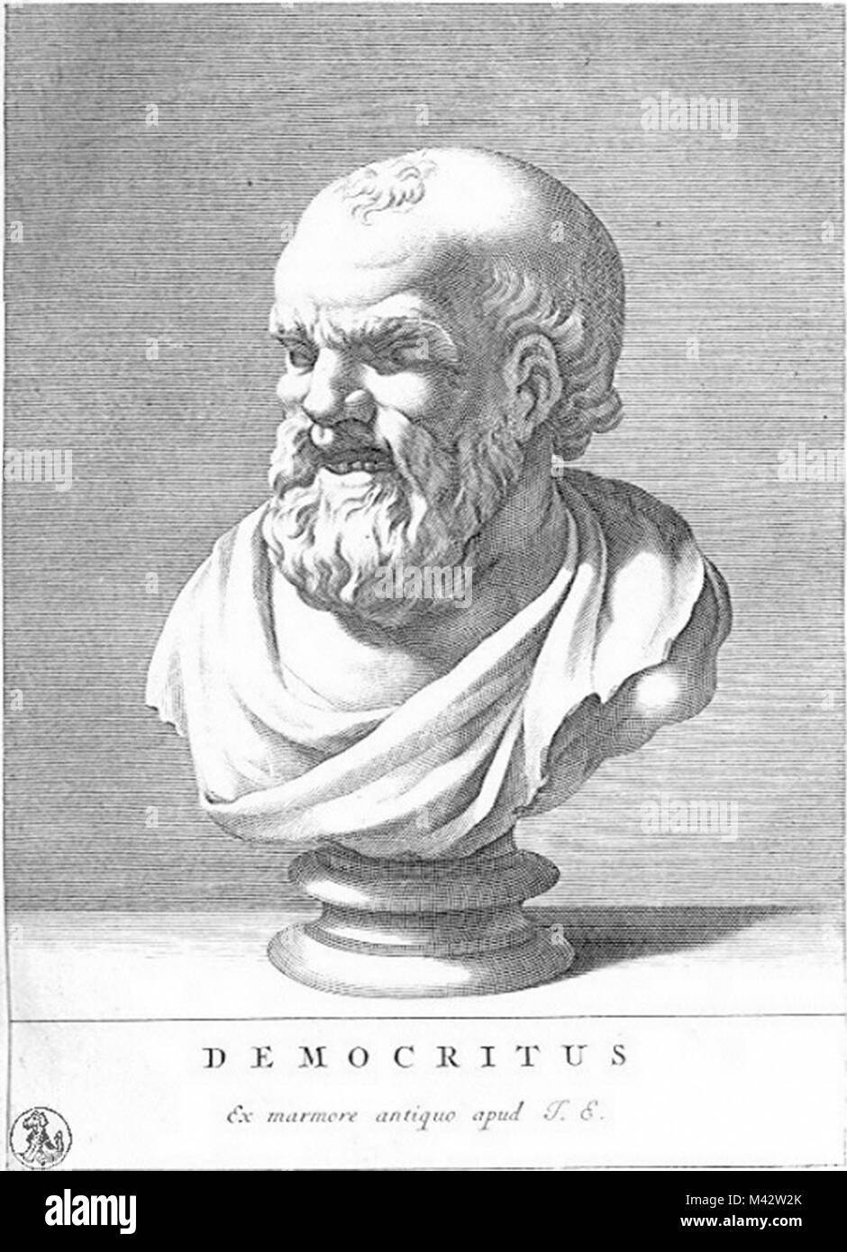 Demokrit (C. 460 - C. 370 v. Chr.) Antike griechische Vorsokratische Philosophen, eine atomare Theorie des Universums Stockbild