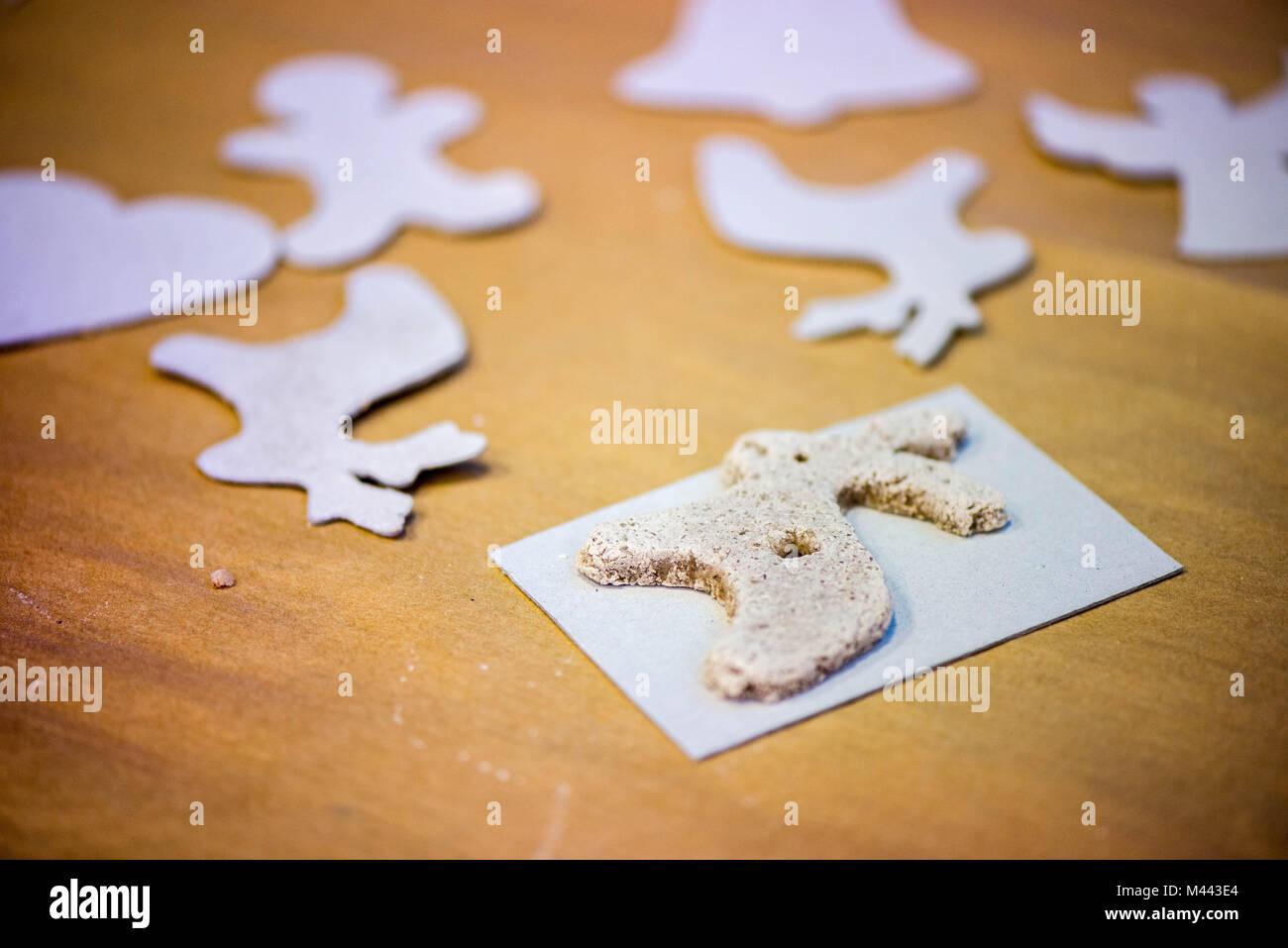 Weihnachten Backen Hintergrund Mit Salzteig Cookie Vorlagen Backen