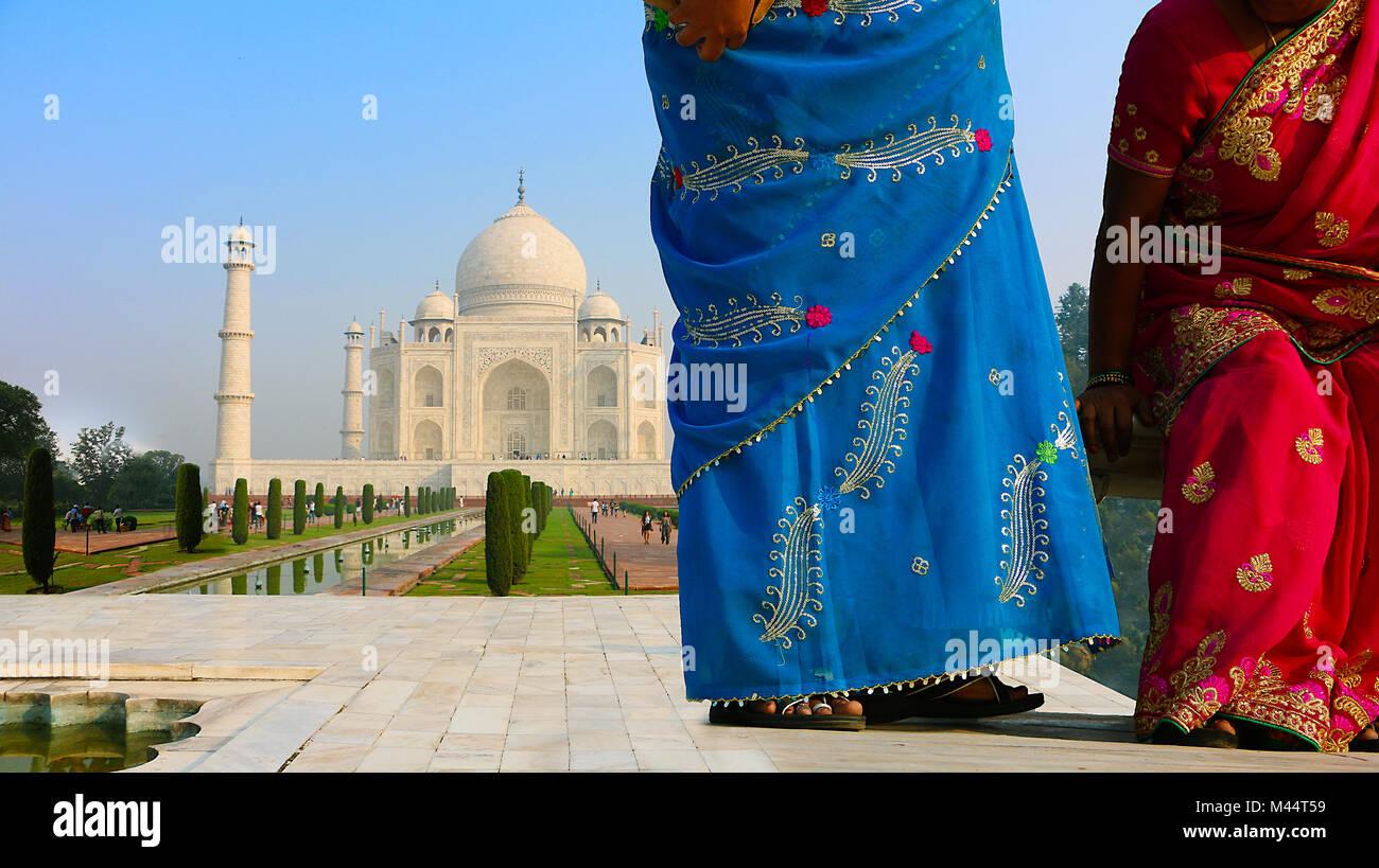Taj Mahal, Agra, Uttar Pradesh, Indien Stockbild
