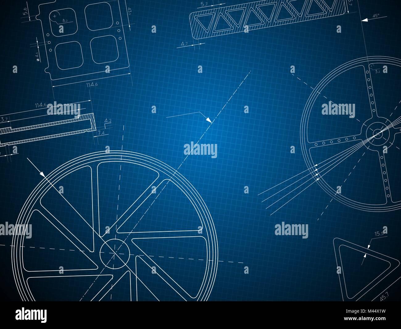 Charmant Blueprint Oder Blauer Druck Bilder - Elektrische Schaltplan ...