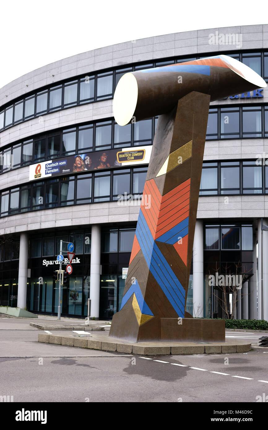 Künstler Stuttgart stuttgart deutschland februar 03 2018 die skulptur wegzeichen 1
