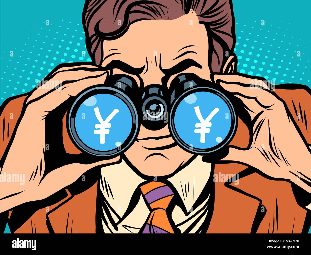 Überwachung von Yen-Wechselkurs Stockbild