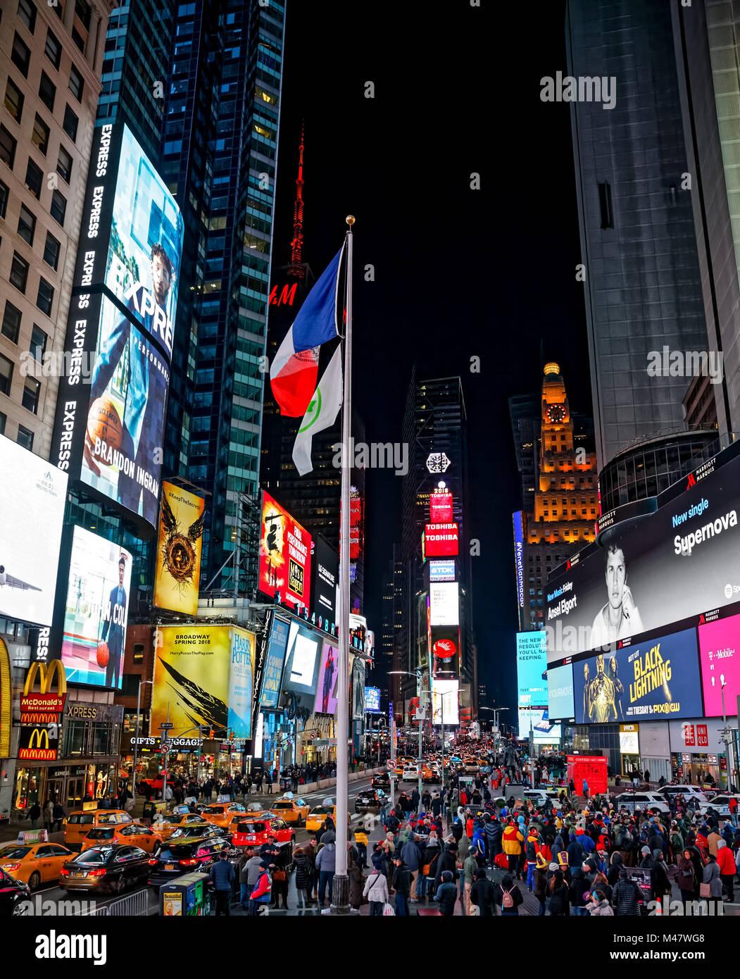 New York Times Square Stockbild