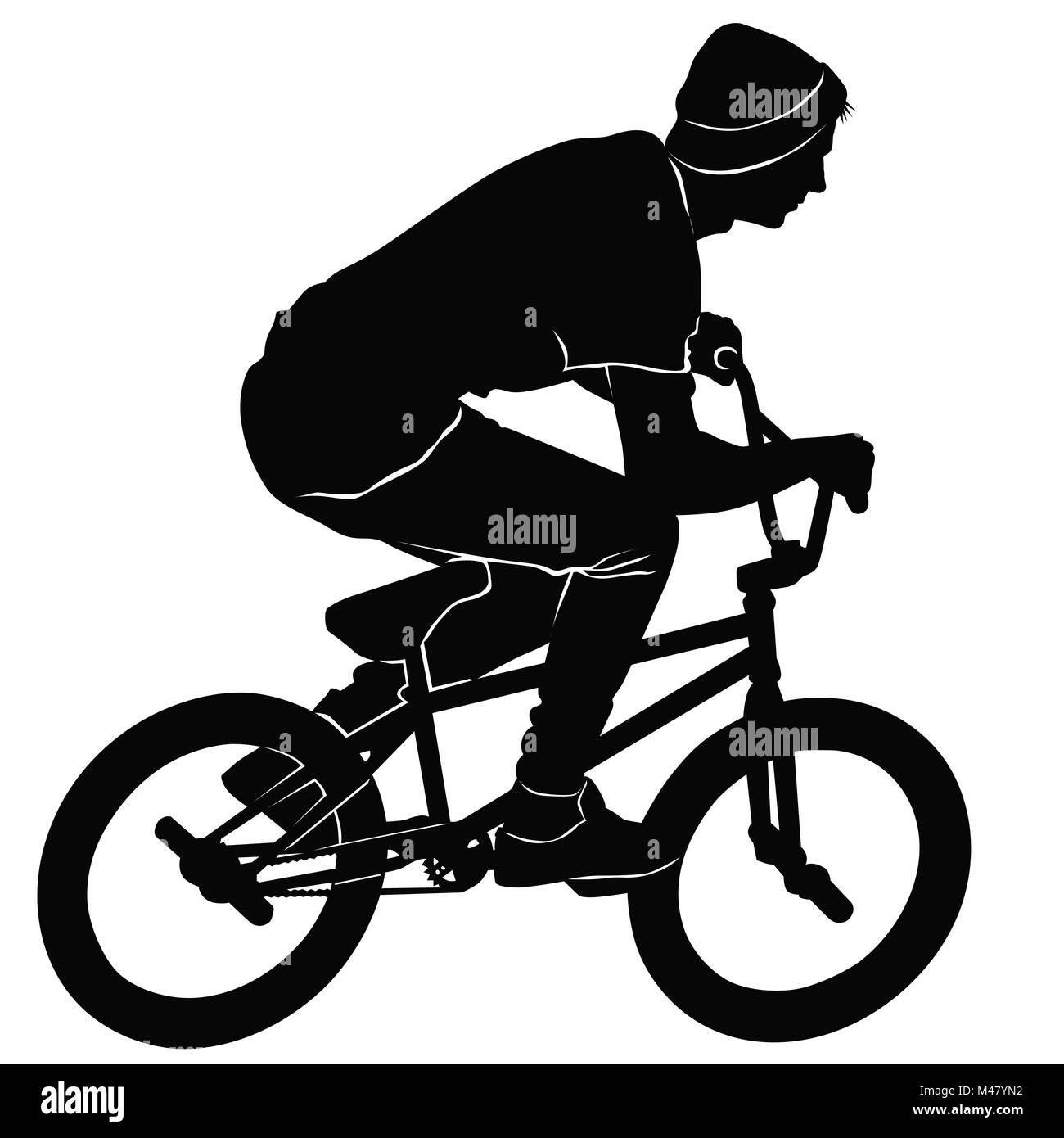 Teenager reiten ein BMX Fahrrad Stockfoto, Bild: 174737726 - Alamy
