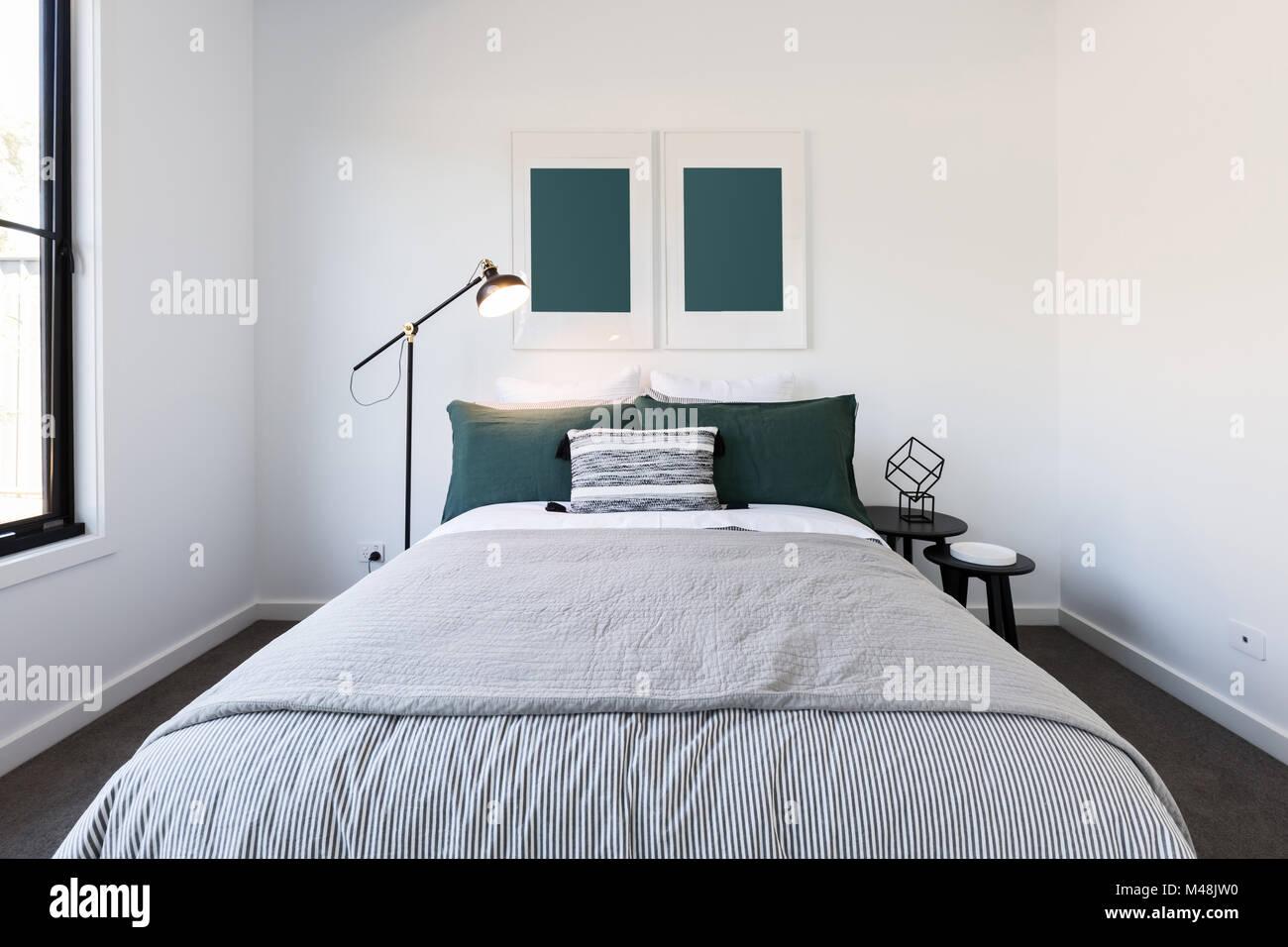Dunkelgrün Und Weiß Luxus Schlafzimmer