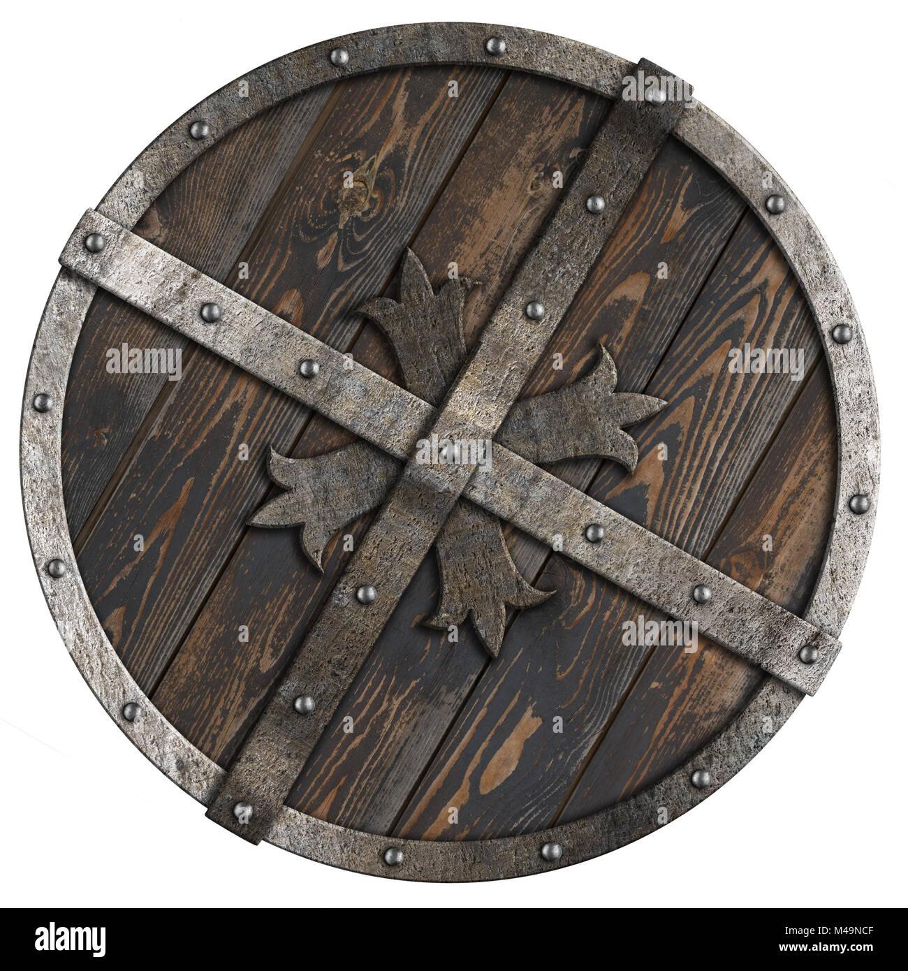 metal medieval round shield illustration stockfotos metal medieval round shield illustration. Black Bedroom Furniture Sets. Home Design Ideas
