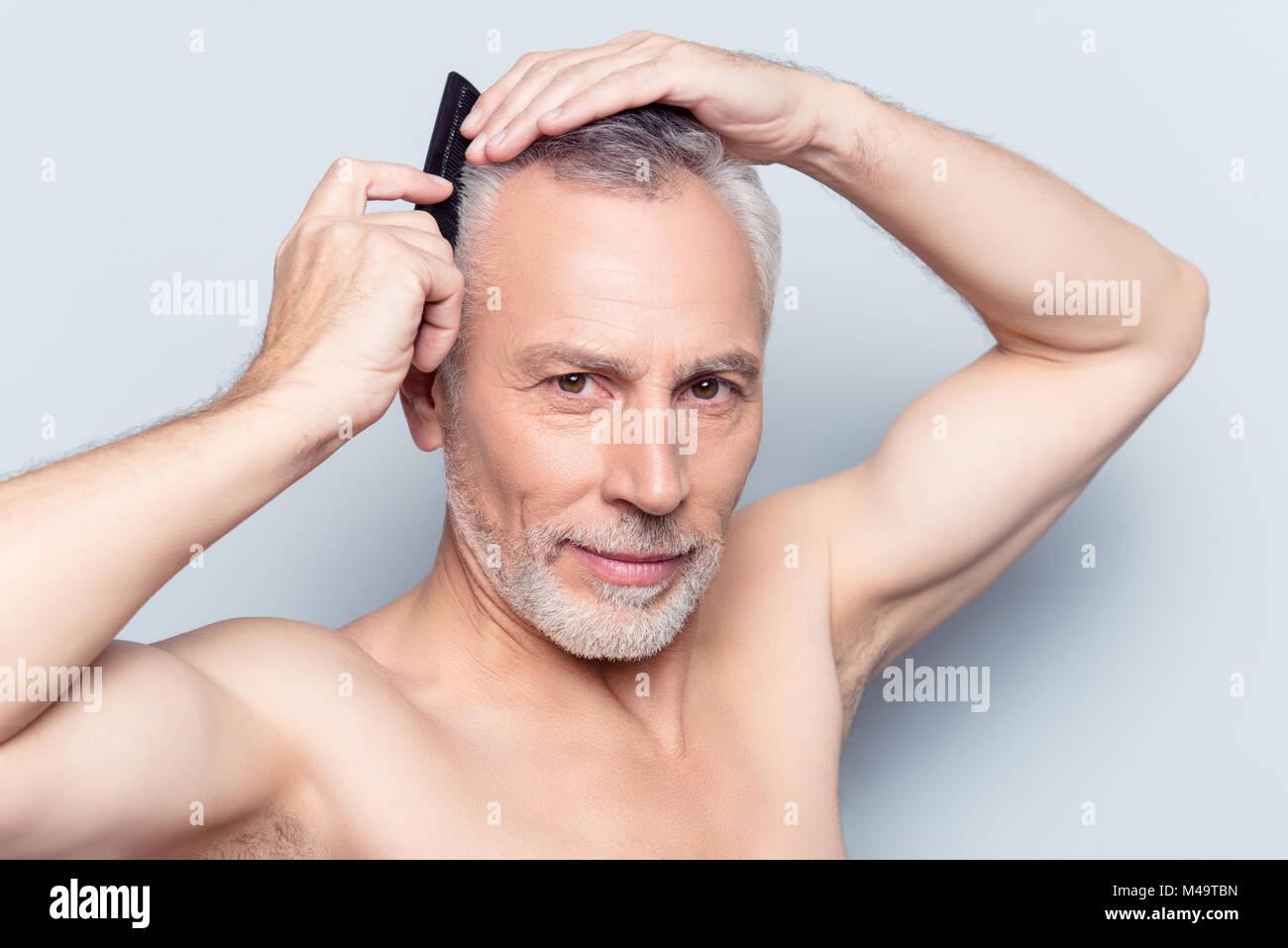 Menschen Mode Friseur Trend Konzept Close Up Portrait Von