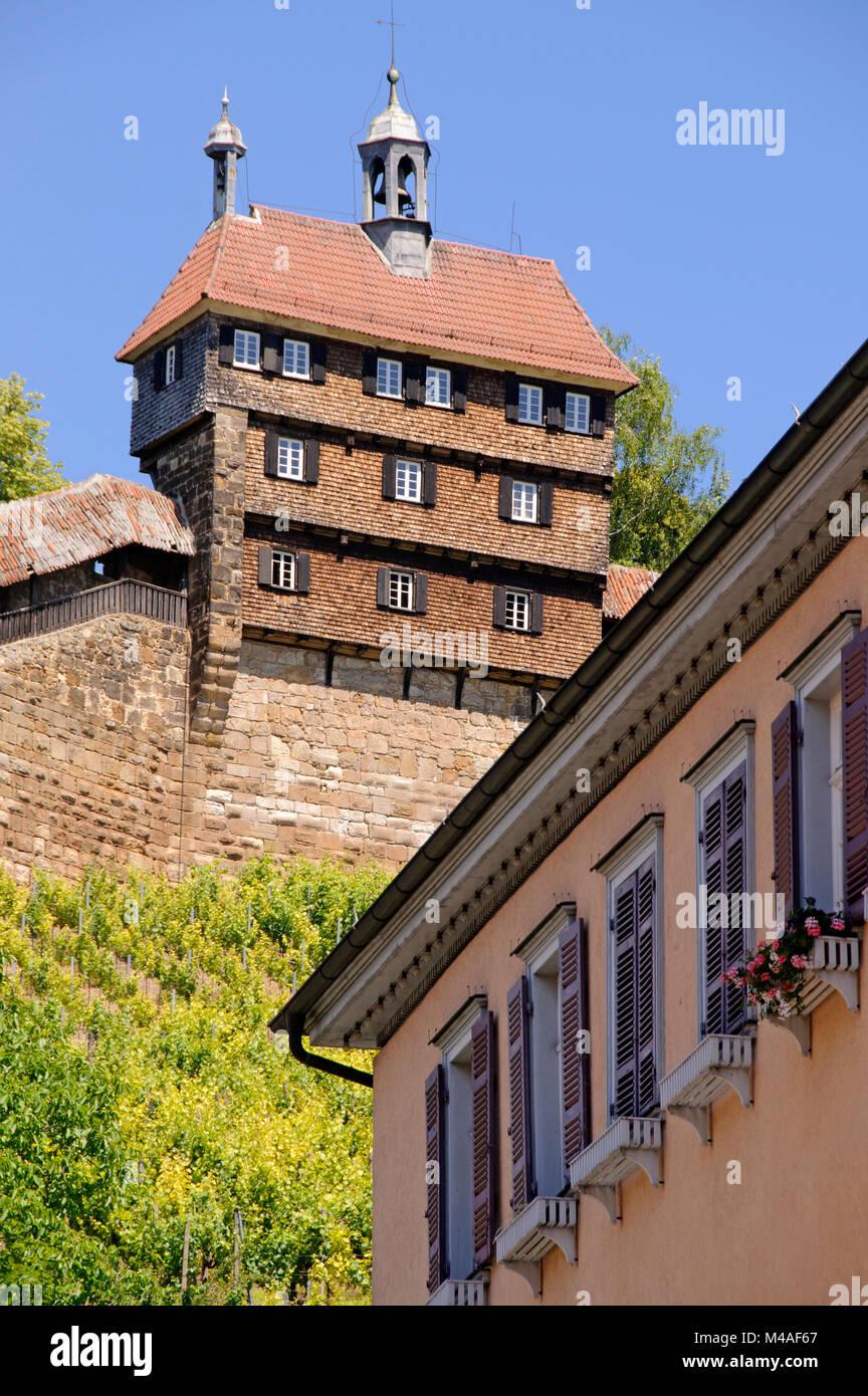 Burg, Esslingen, Baden-Württemberg, Deutschland Stockbild