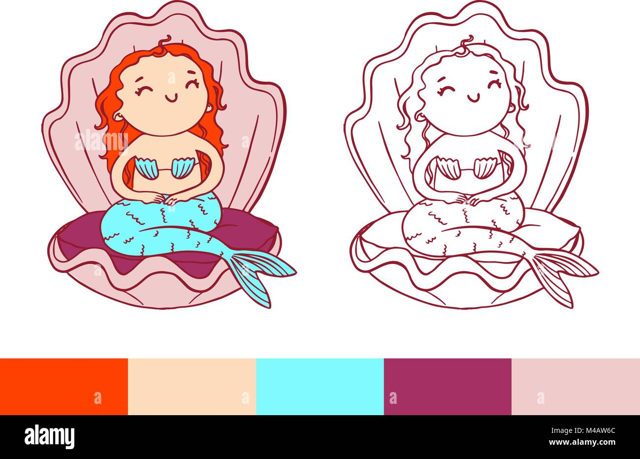 Wunderbar Kleine Meerjungfrau Färbung Seite Fotos ...