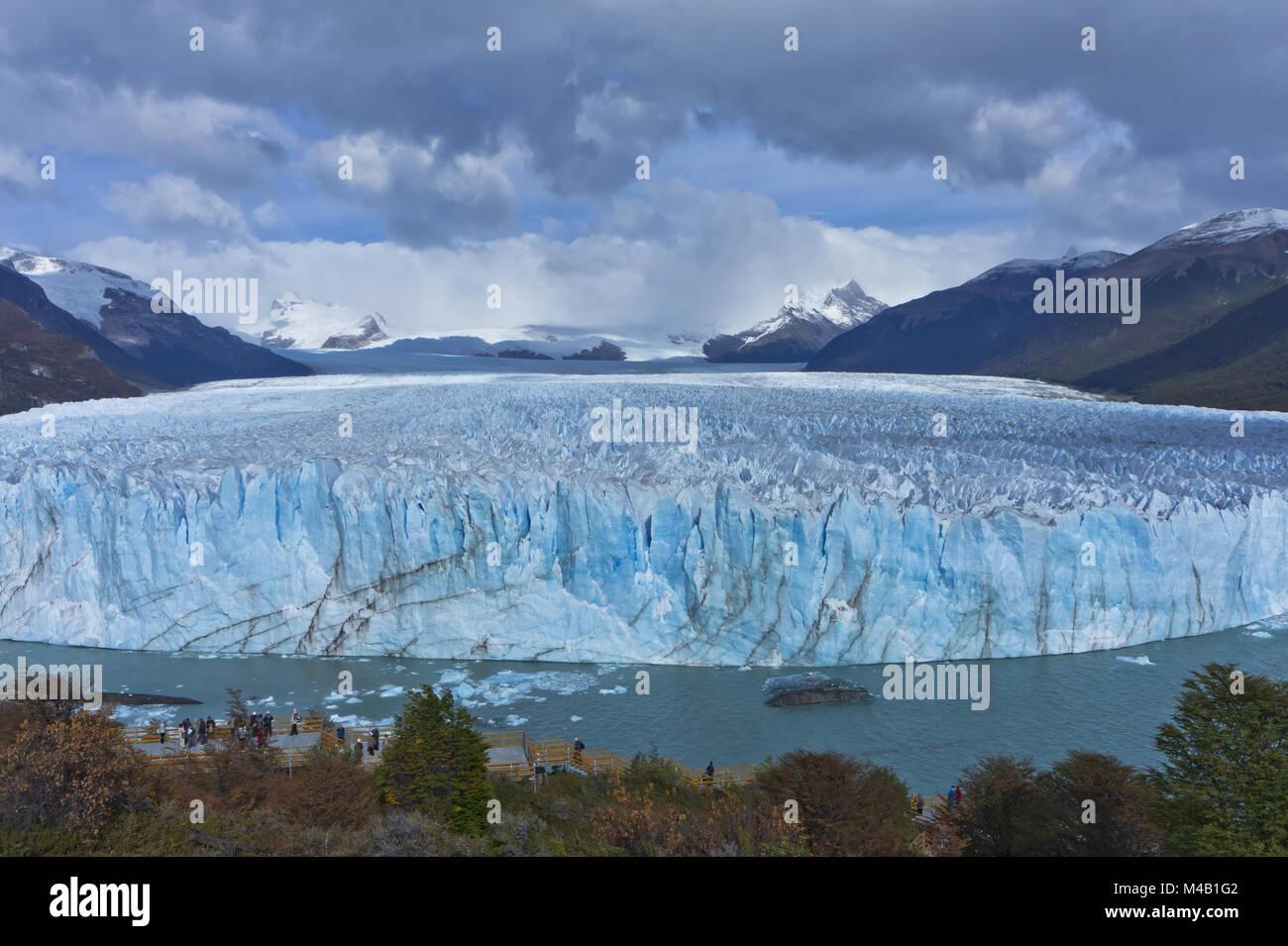 Blaue Gletscher, Patagonien, Argentinien, Südamerika Stockbild