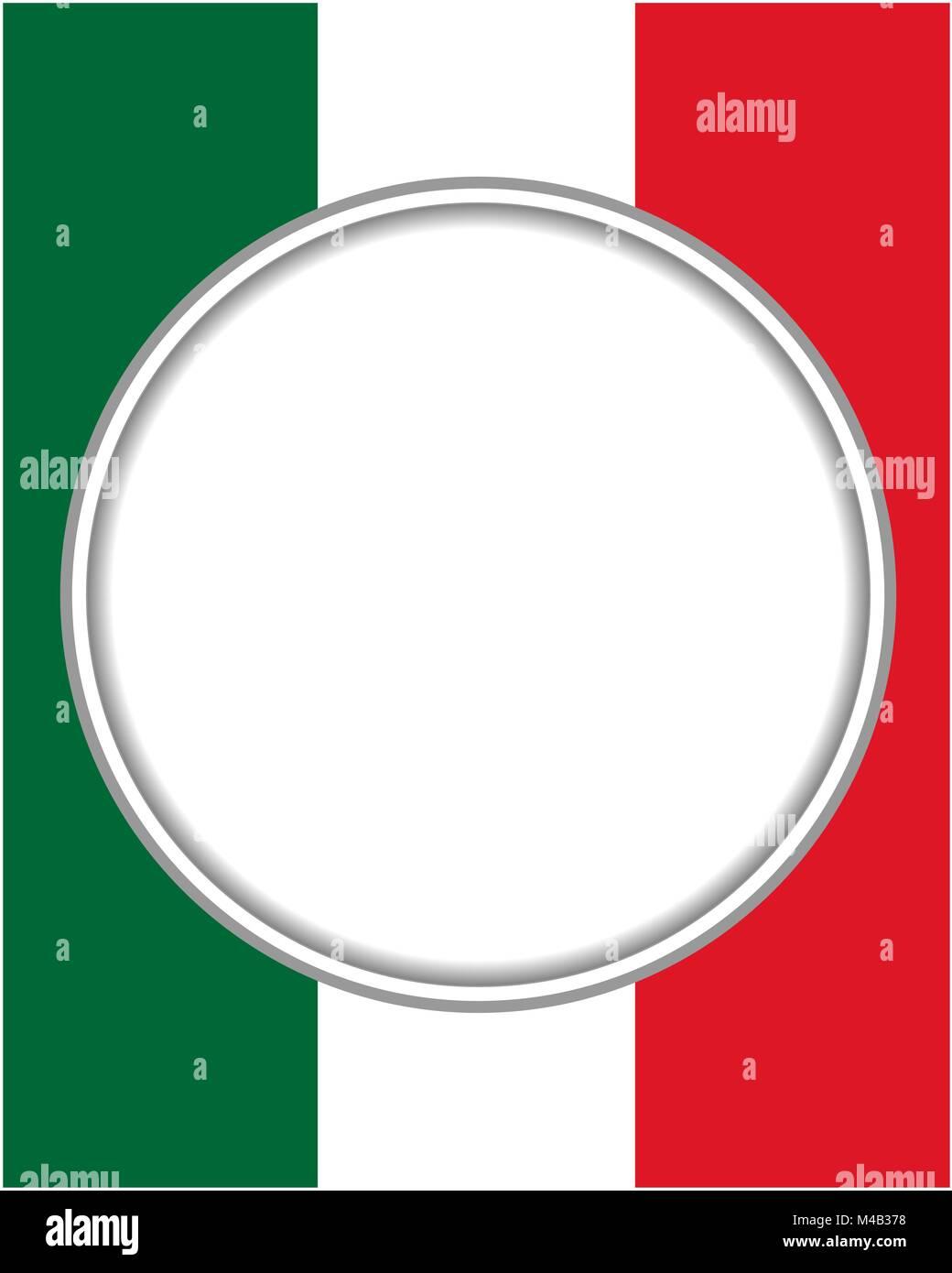 Italy Flag Frame Stockfotos & Italy Flag Frame Bilder - Alamy