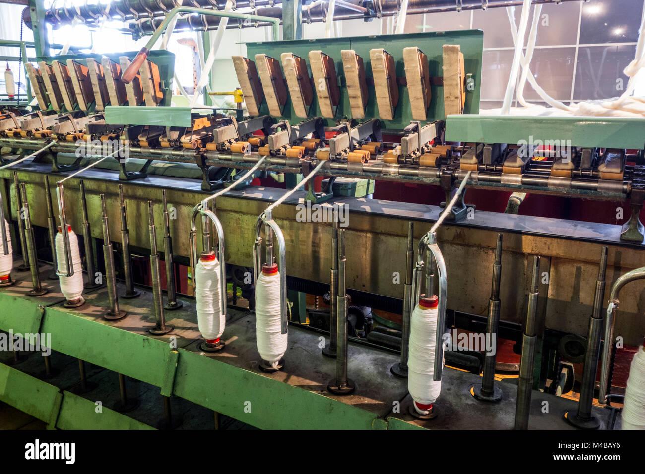 Flyer Maschine für die Abfassung der Splitter in Roving durch Verdrehen der Fasern in Cotton Mill/Karde, dass Stockbild
