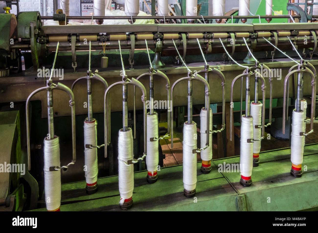 Flyer Maschine für die Abfassung der Splitter in Roving durch Verdrehen der Fasern in Cotton Mill/Spinning Stockbild