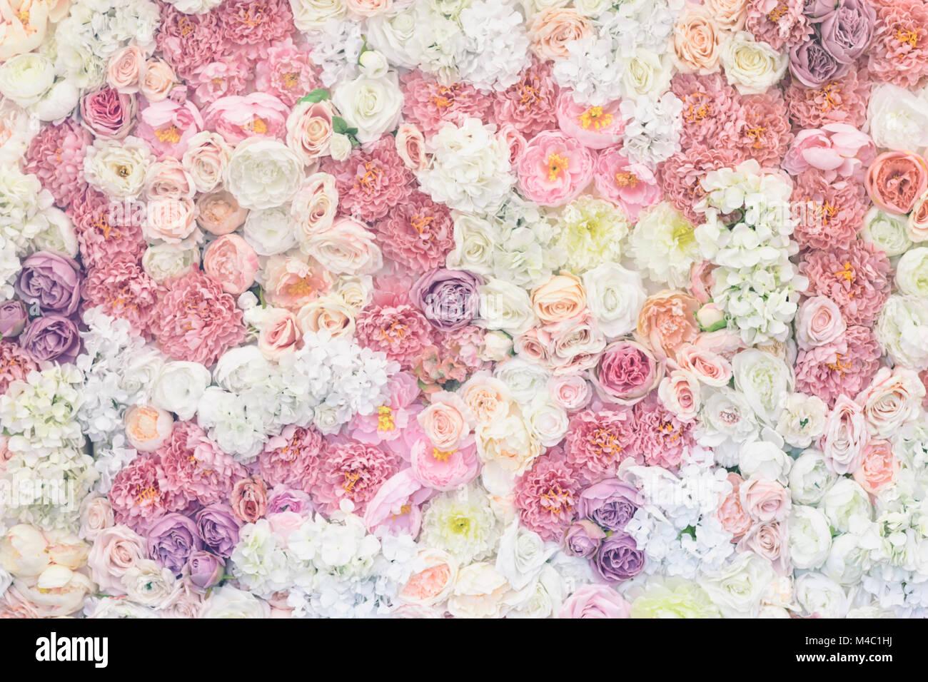 Blumen Pastell Hintergrund Vintage Effekt Hochzeit Dekoration