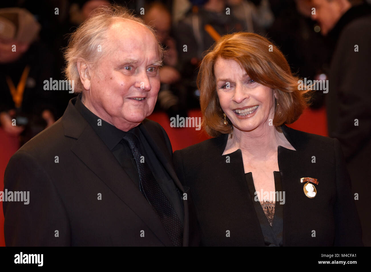 berlin deutschland 15 februar 2018 michael verhoeven und senta berger die teilnahme an der. Black Bedroom Furniture Sets. Home Design Ideas