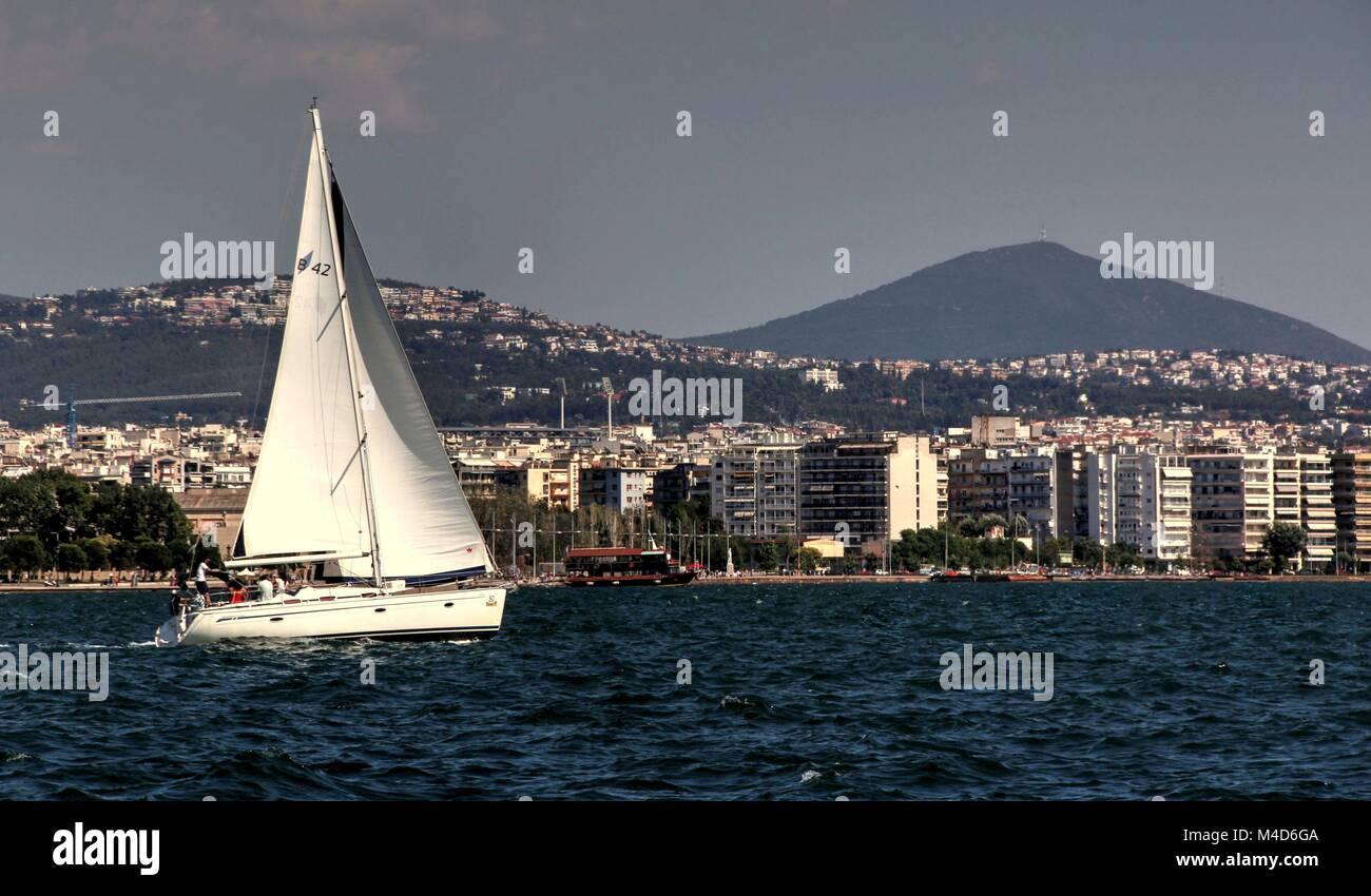 Griechische Porträt des Alltags in Thessaloniki Stockbild