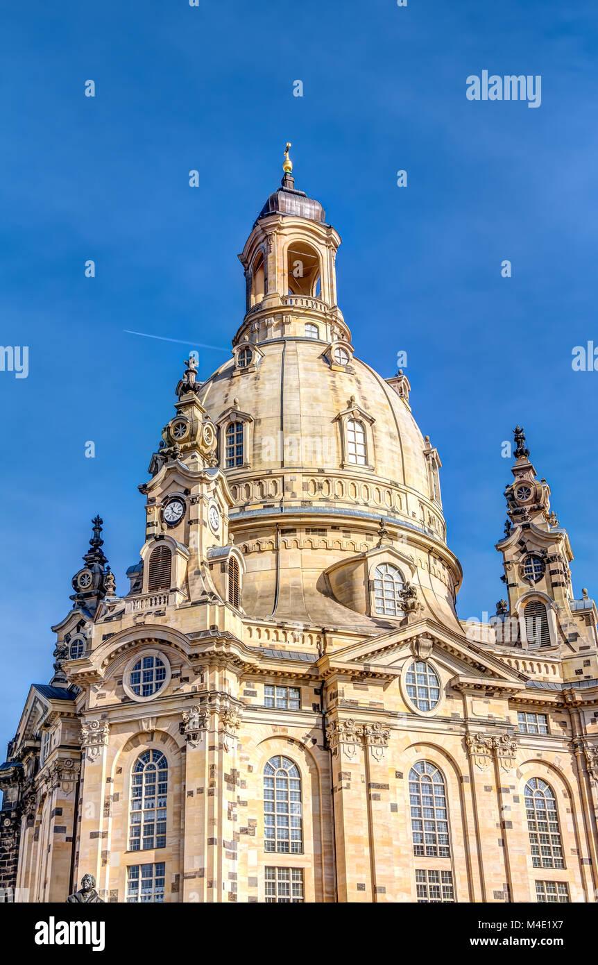 Frauenkirche in Dresden Stockbild
