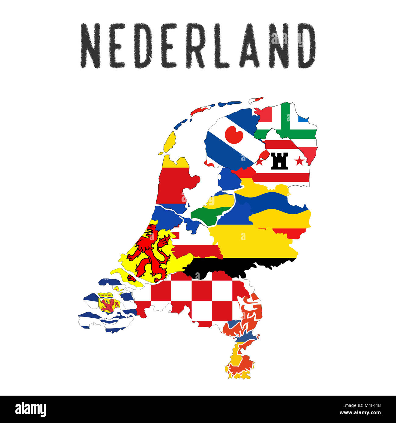 Niederlande Regionen Karte Stockfoto Bild 174894843 Alamy