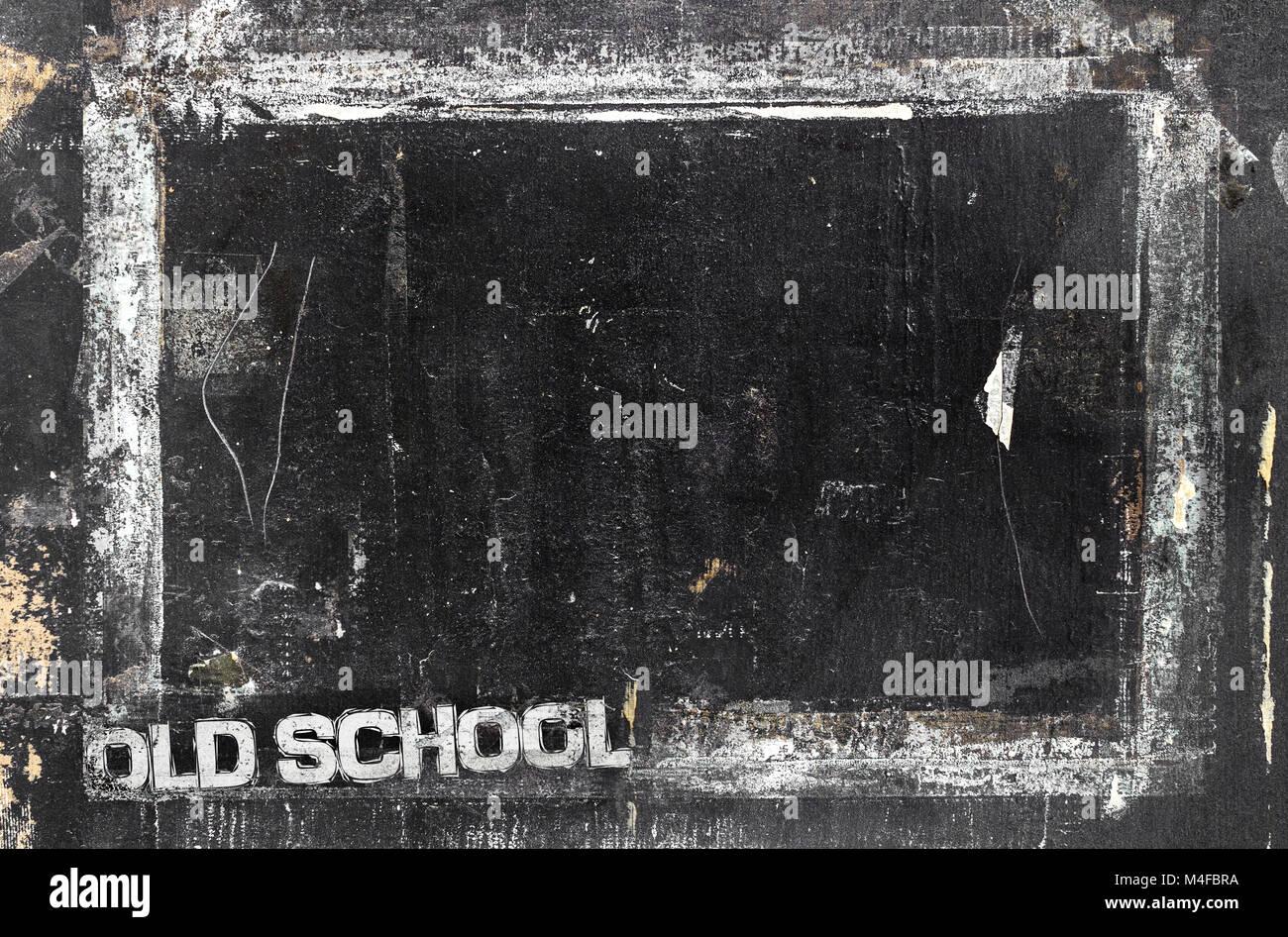 Tafel in grunge Stil, zerkratzt und ruiniert. Dirty künstlerische ...