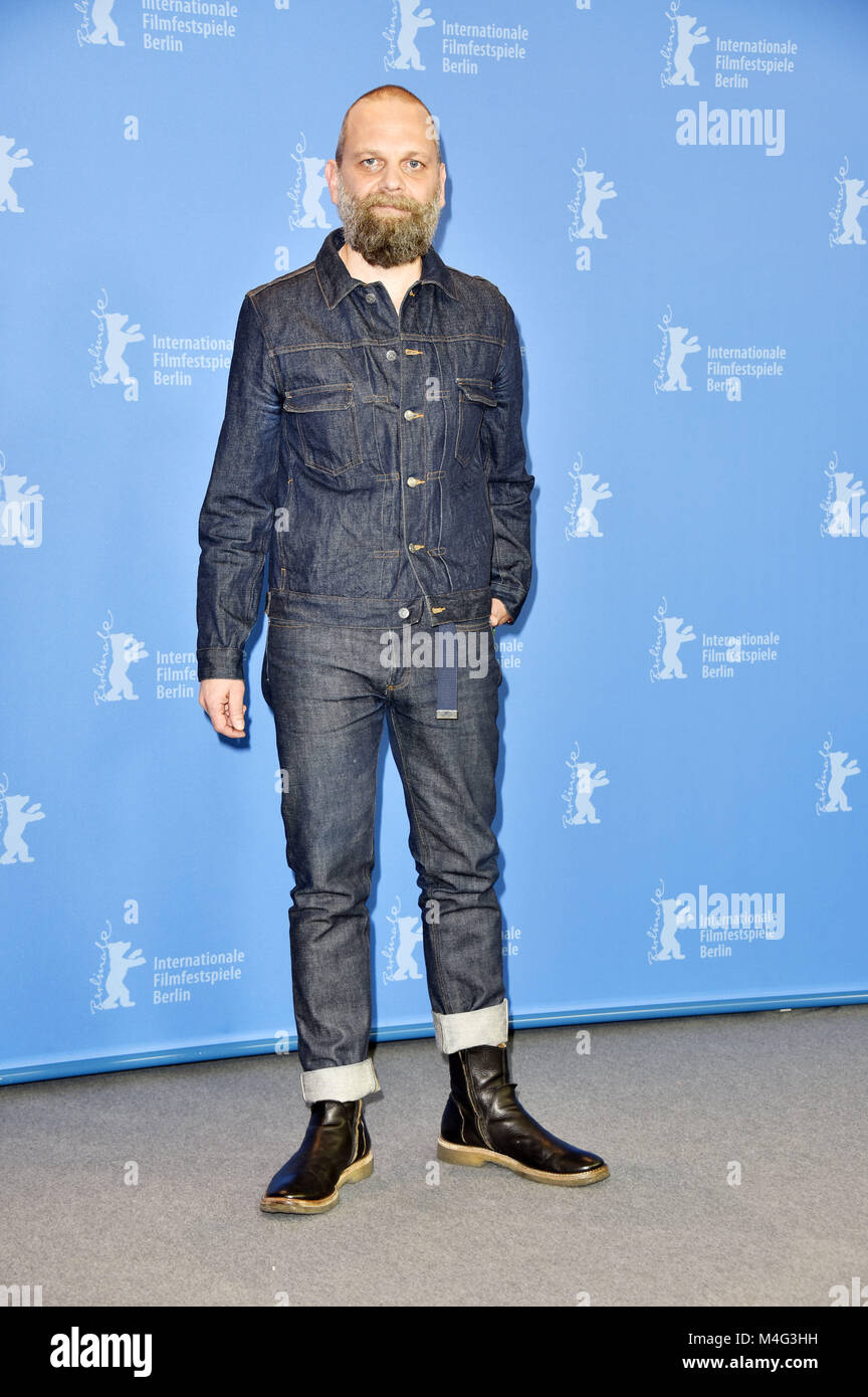 Berlin, Deutschland. 16 Feb, 2018. Wolfgang Fischer während der 'Styx' Fotoshooting an der 68. Internationalen Filmfestspiele Stockfoto