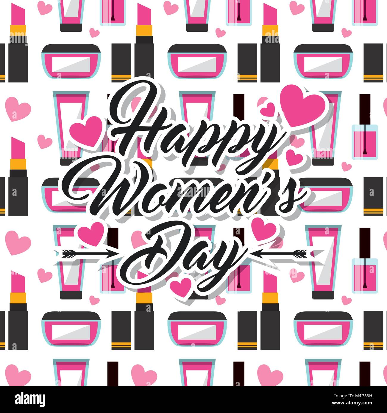 Make up Kosmetik happy Tag der Frauen Hintergrund Stockbild