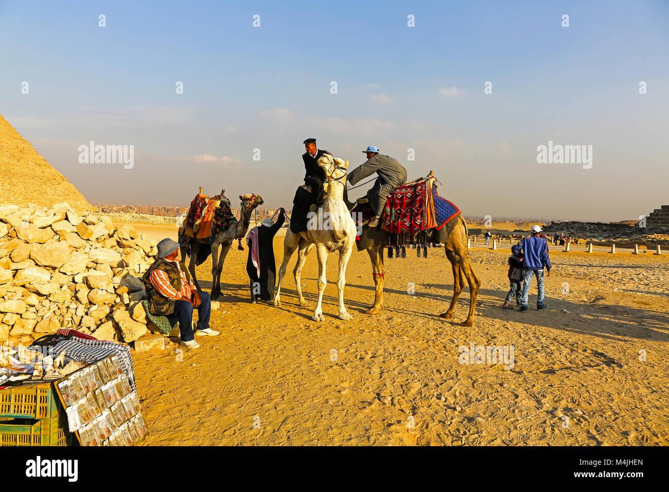 Pyramiden, Giza, Ägypten, Nordafrika Stockbild
