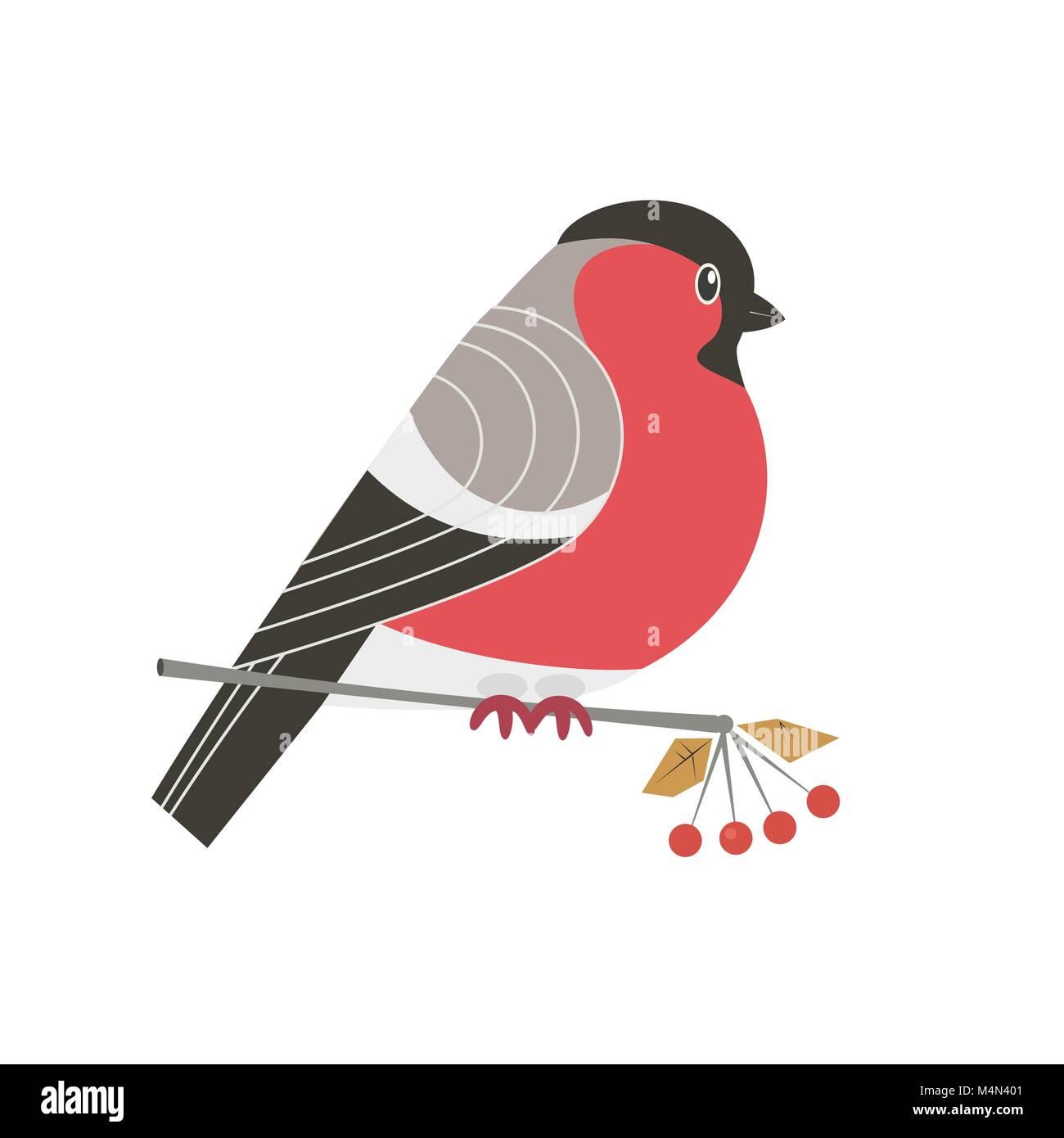 Vector Illustration Funny Birds Sitting Stockfotos Vector