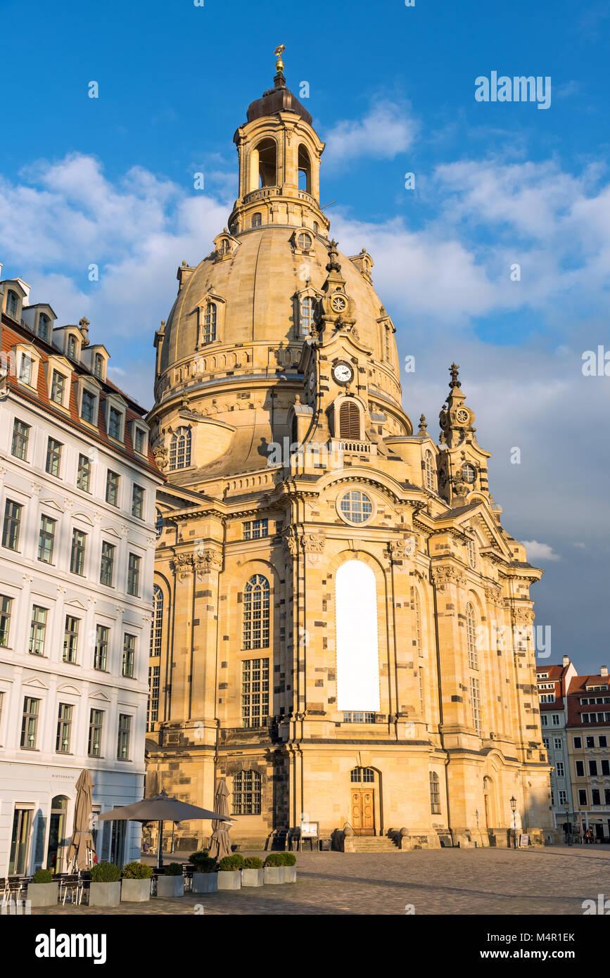Die restaurierten Frauenkirche in Dresden, Deutschland Stockbild