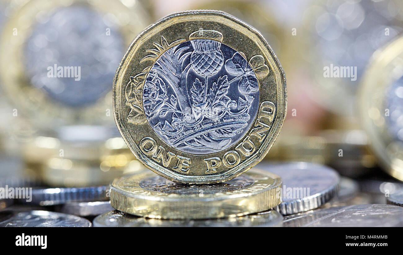 Britische Sterling Münze Stockfotos Britische Sterling Münze