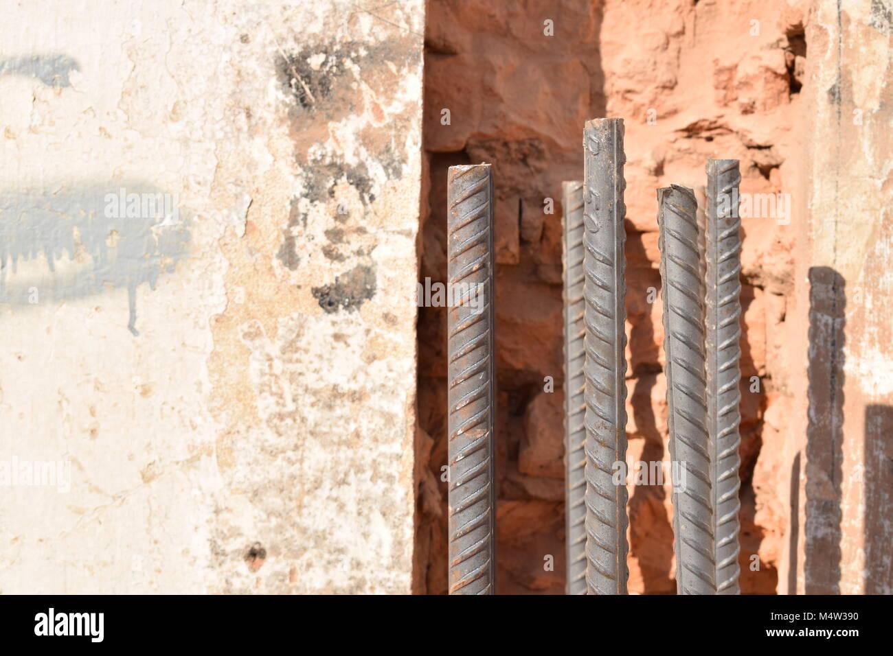 Scheinbare Metallrahmen Struktur in abgerissenen Gebäude Stockfoto ...