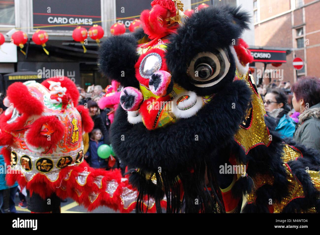 Das chinesische Neujahr feiern in London 2018 Credit: Alex Cavendish ...