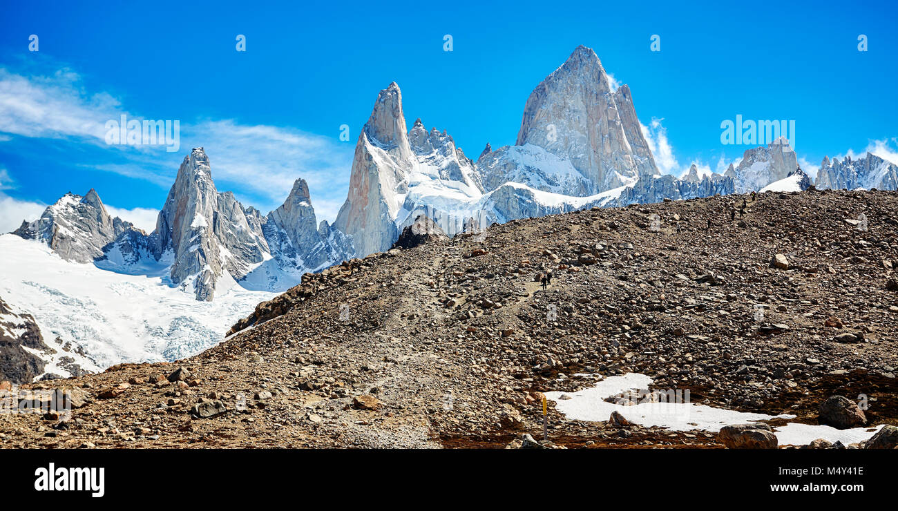 Fitz Roy Massivs, Nationalpark Los Glaciares, Argentinien. Stockbild