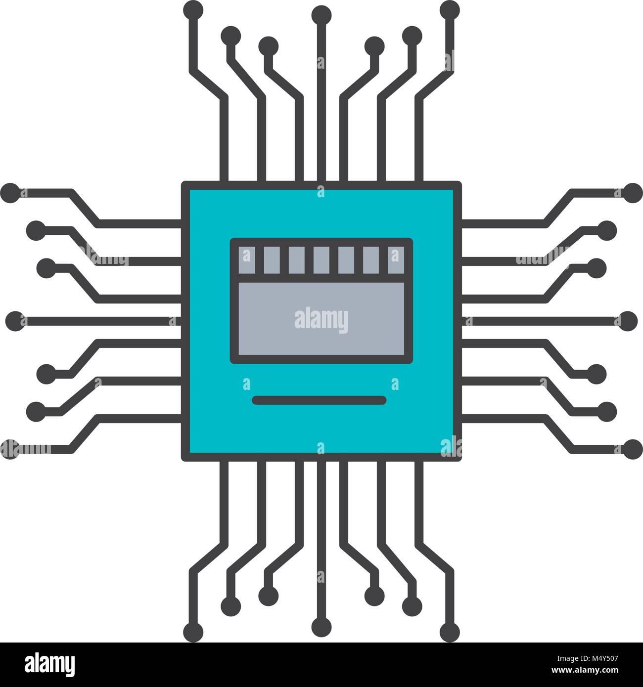 Motherboard Stromkreis high tech elektrische Symbol Hardware Vektor ...