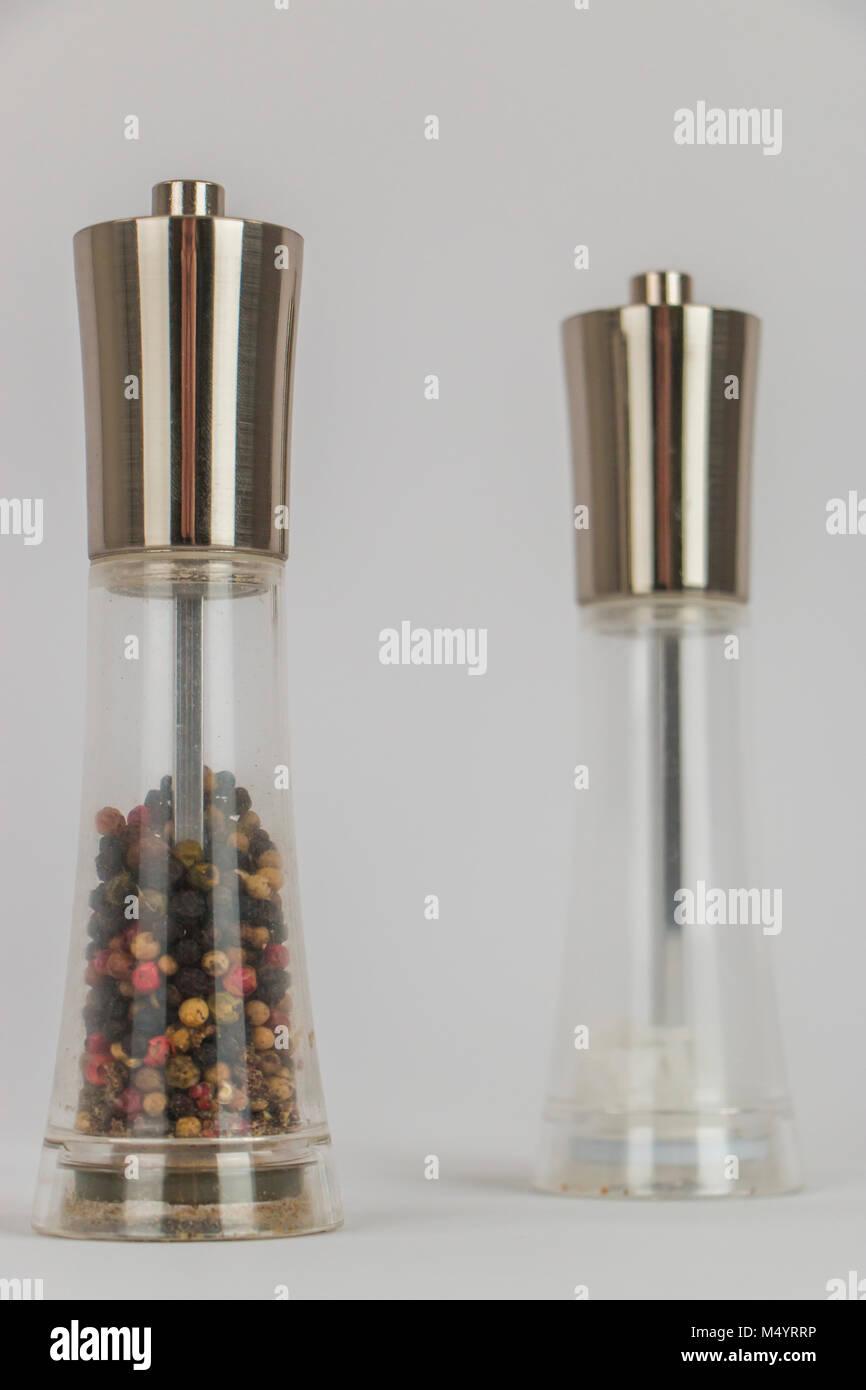 Sal und Pfeffer Schleifmaschinen Stockbild